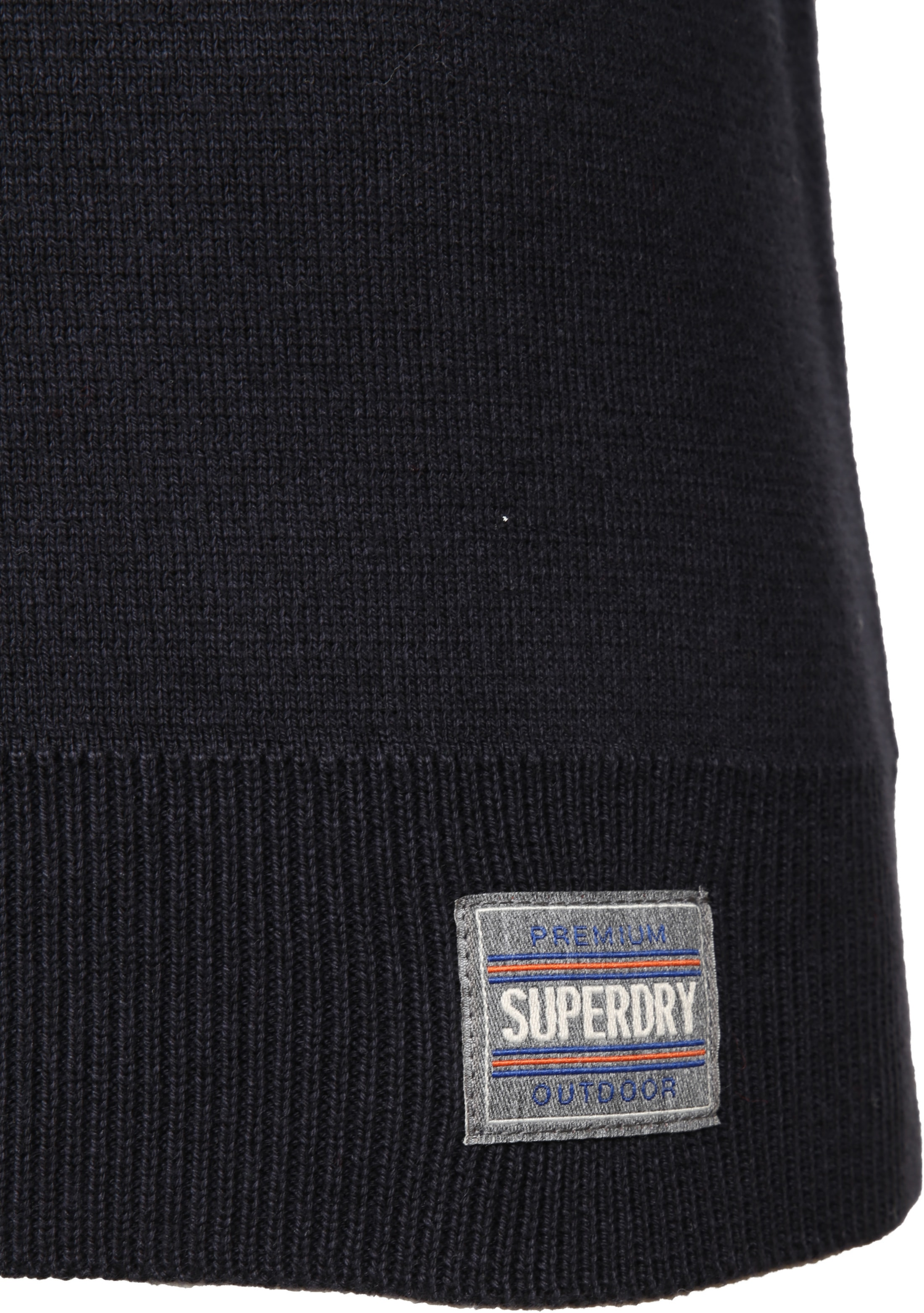 Superdry Sweater Navy Rits foto 3