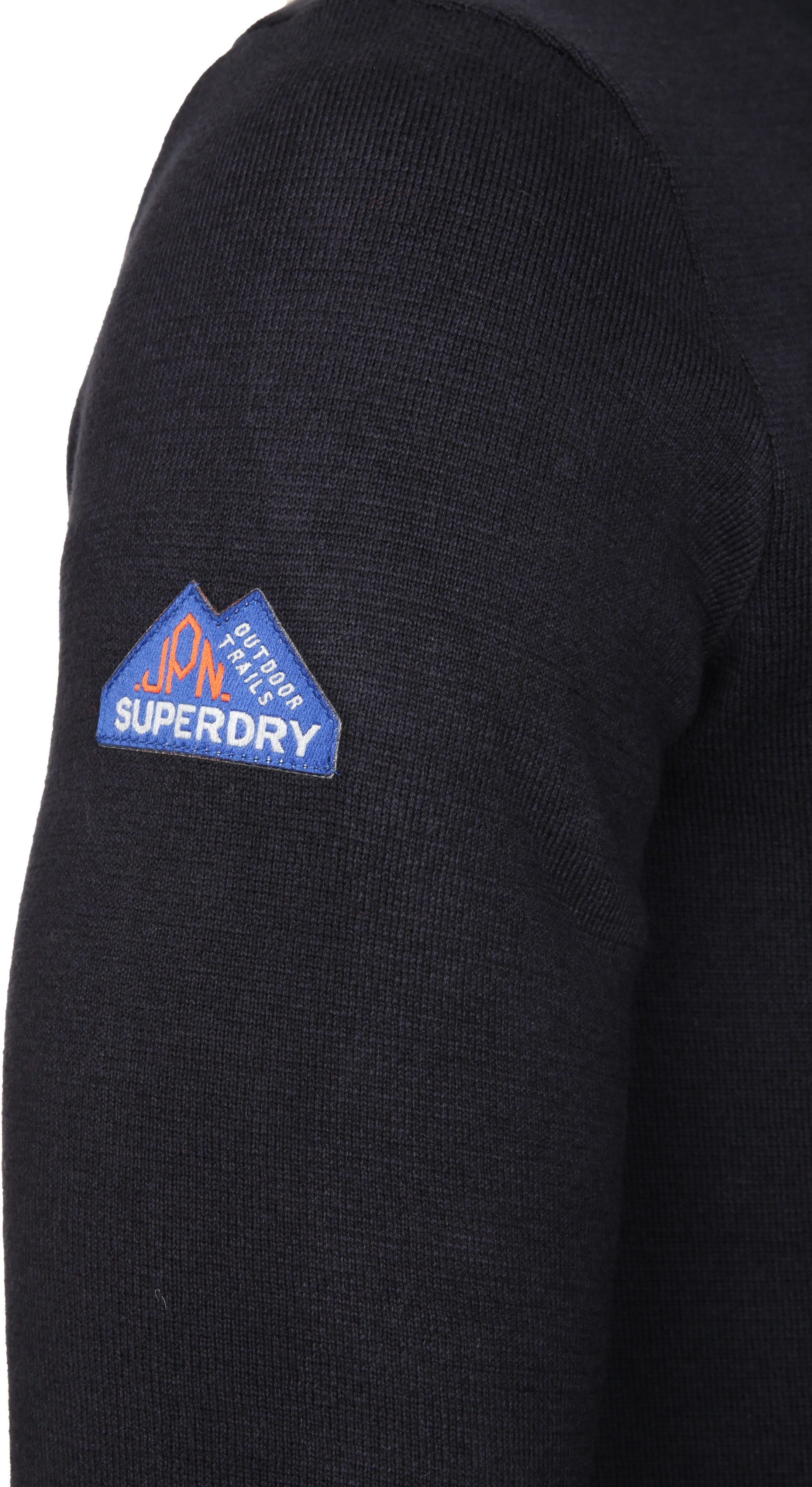Superdry Sweater Navy Rits foto 4