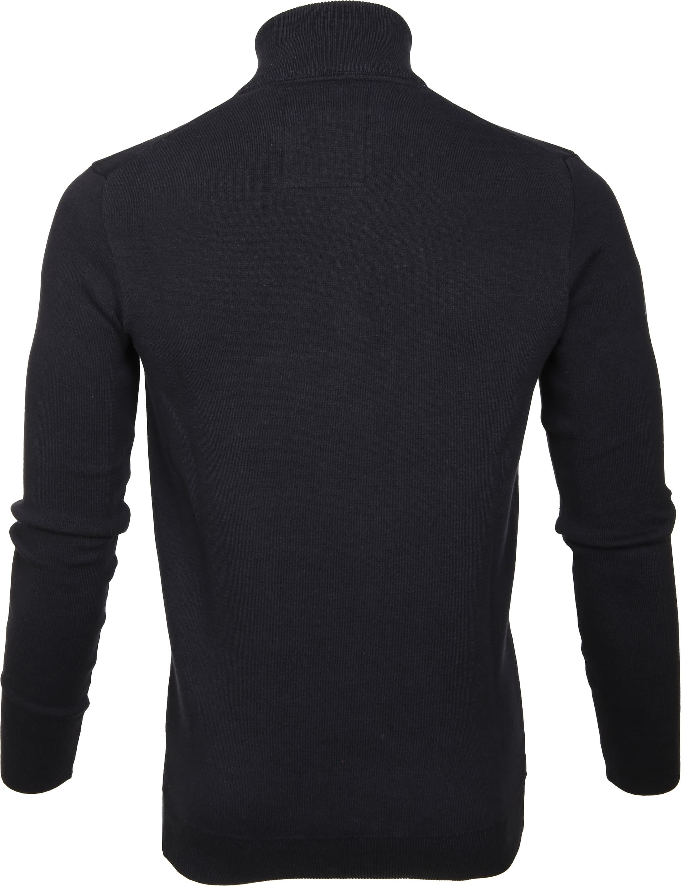 Superdry Sweater Navy Rits foto 5