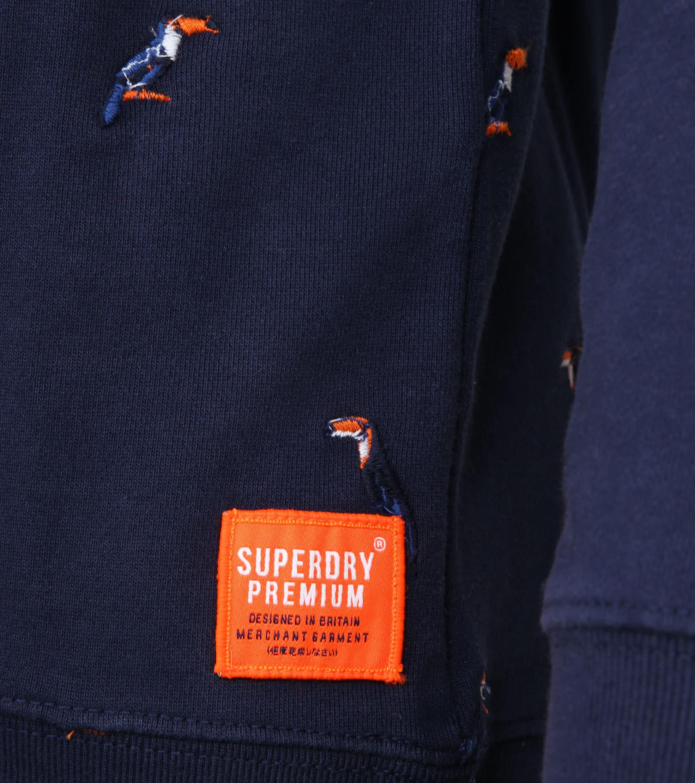 Superdry Sweater Vogel Navy foto 2