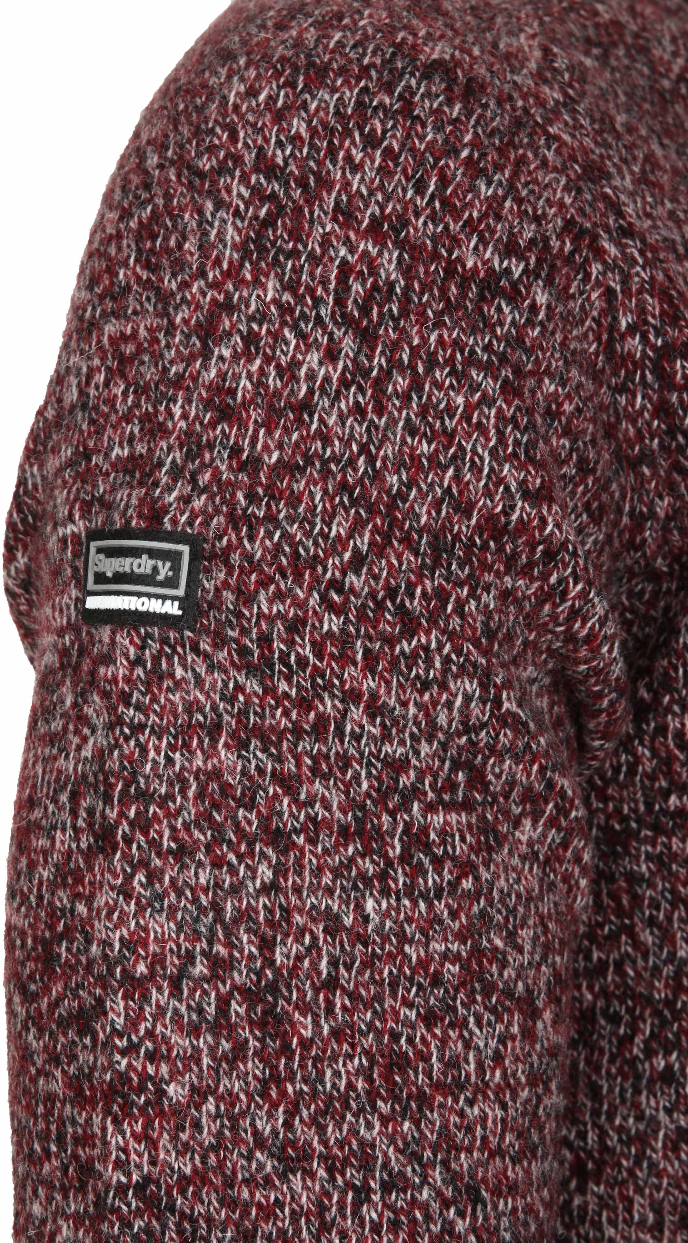 Superdry Sweater Wol Bordeaux foto 2