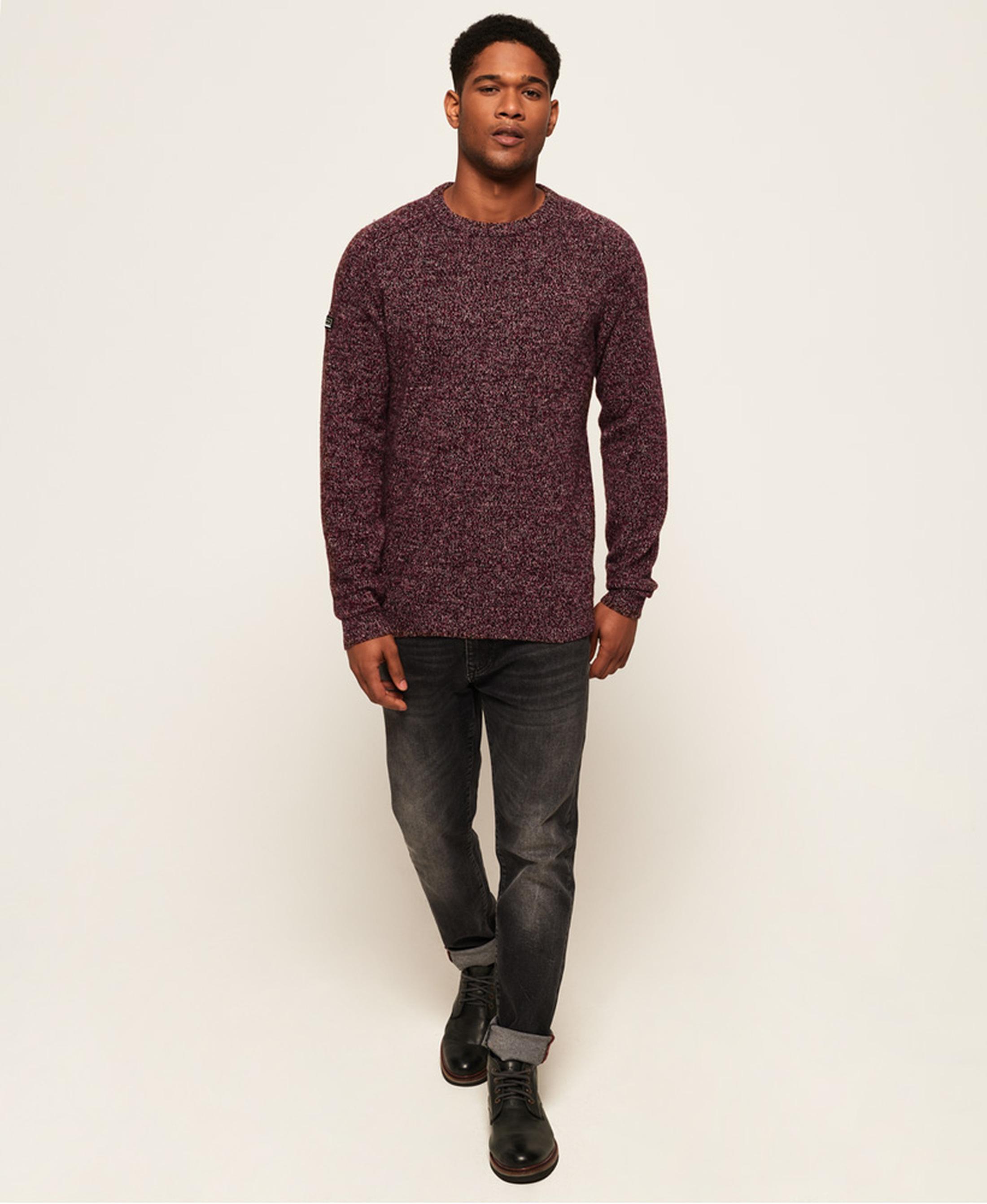 Superdry Sweater Wol Bordeaux foto 5