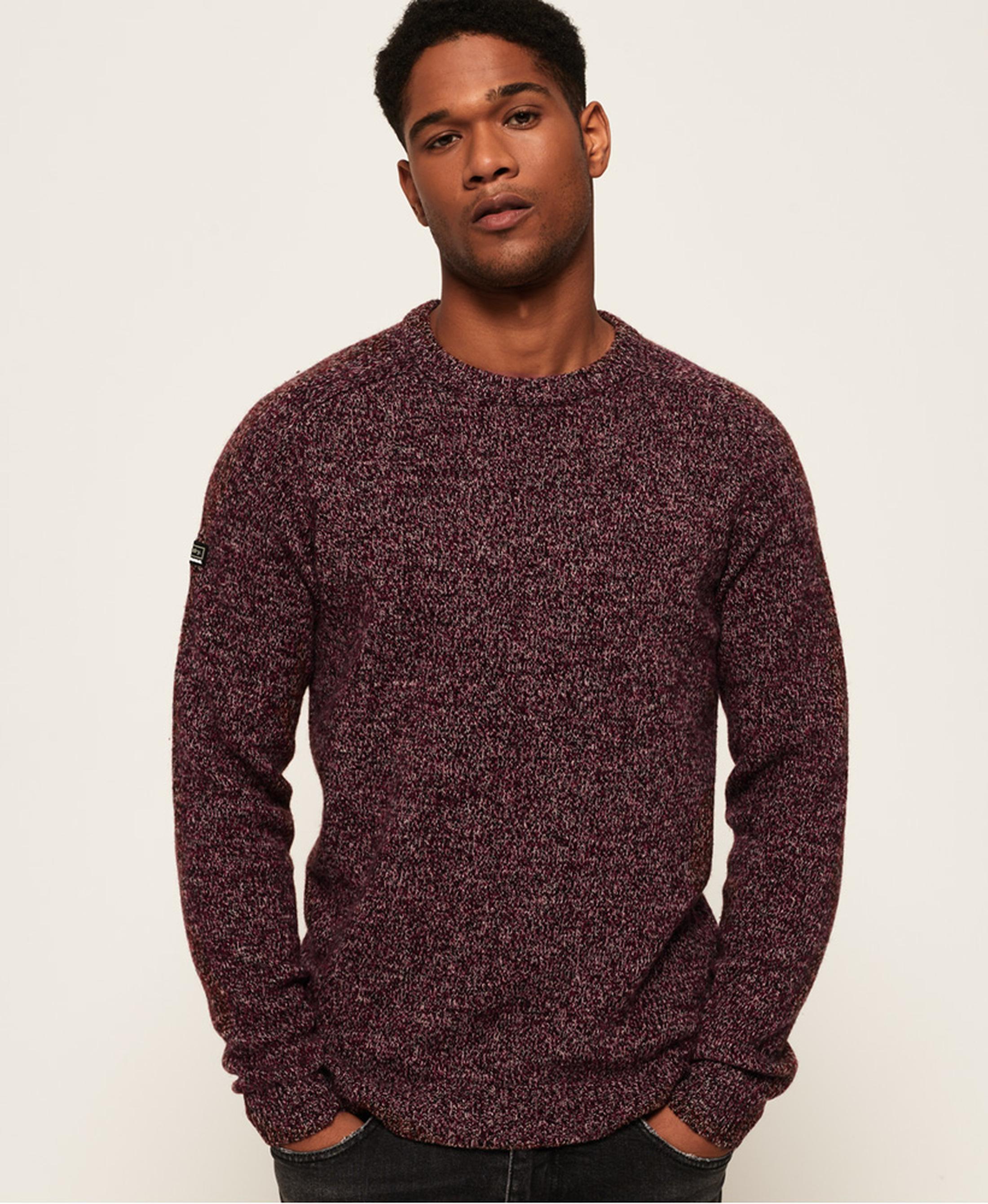 Superdry Sweater Wol Bordeaux foto 1