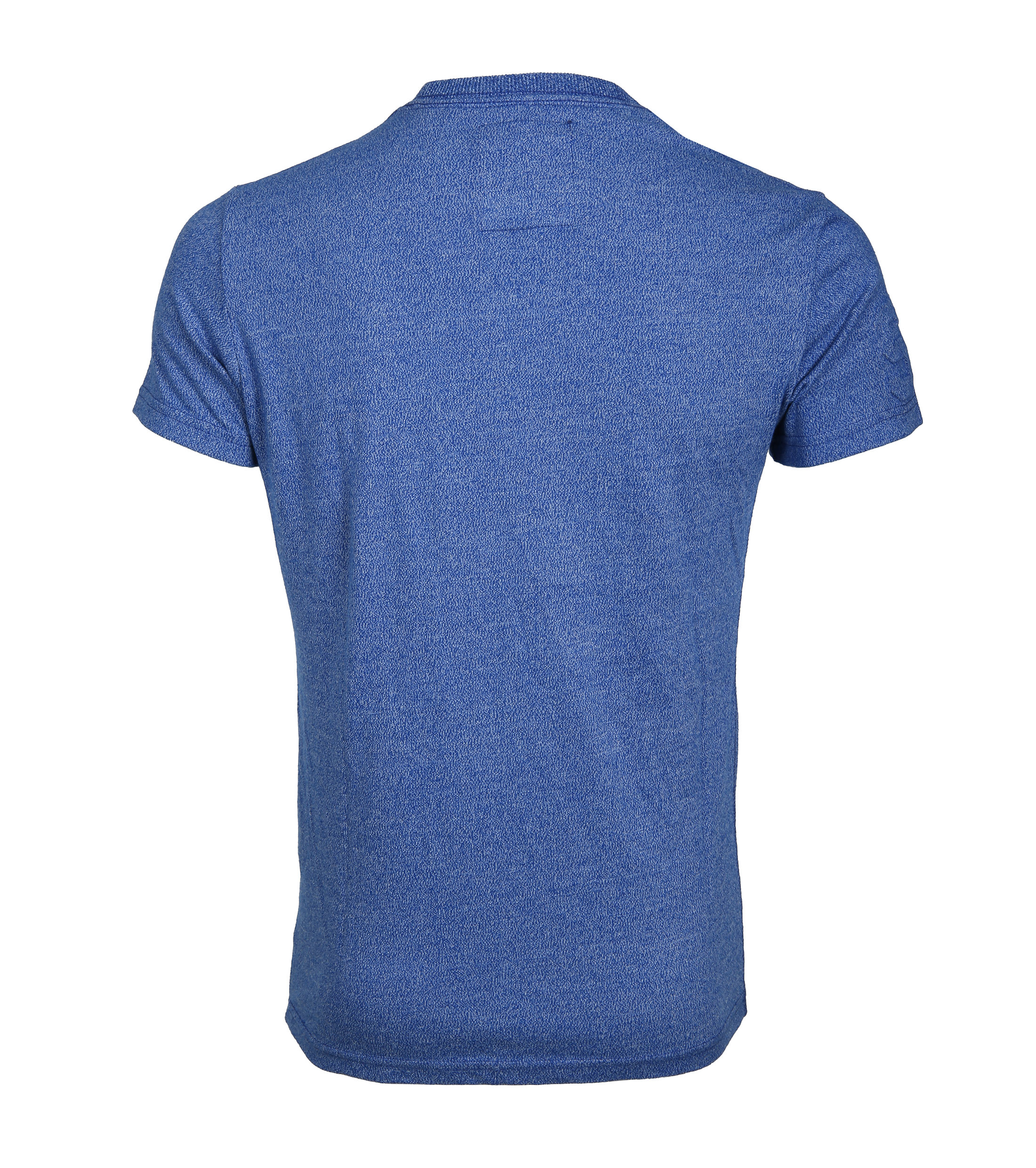 Superdry T-Shirt Authentic Embossed Blauw foto 2