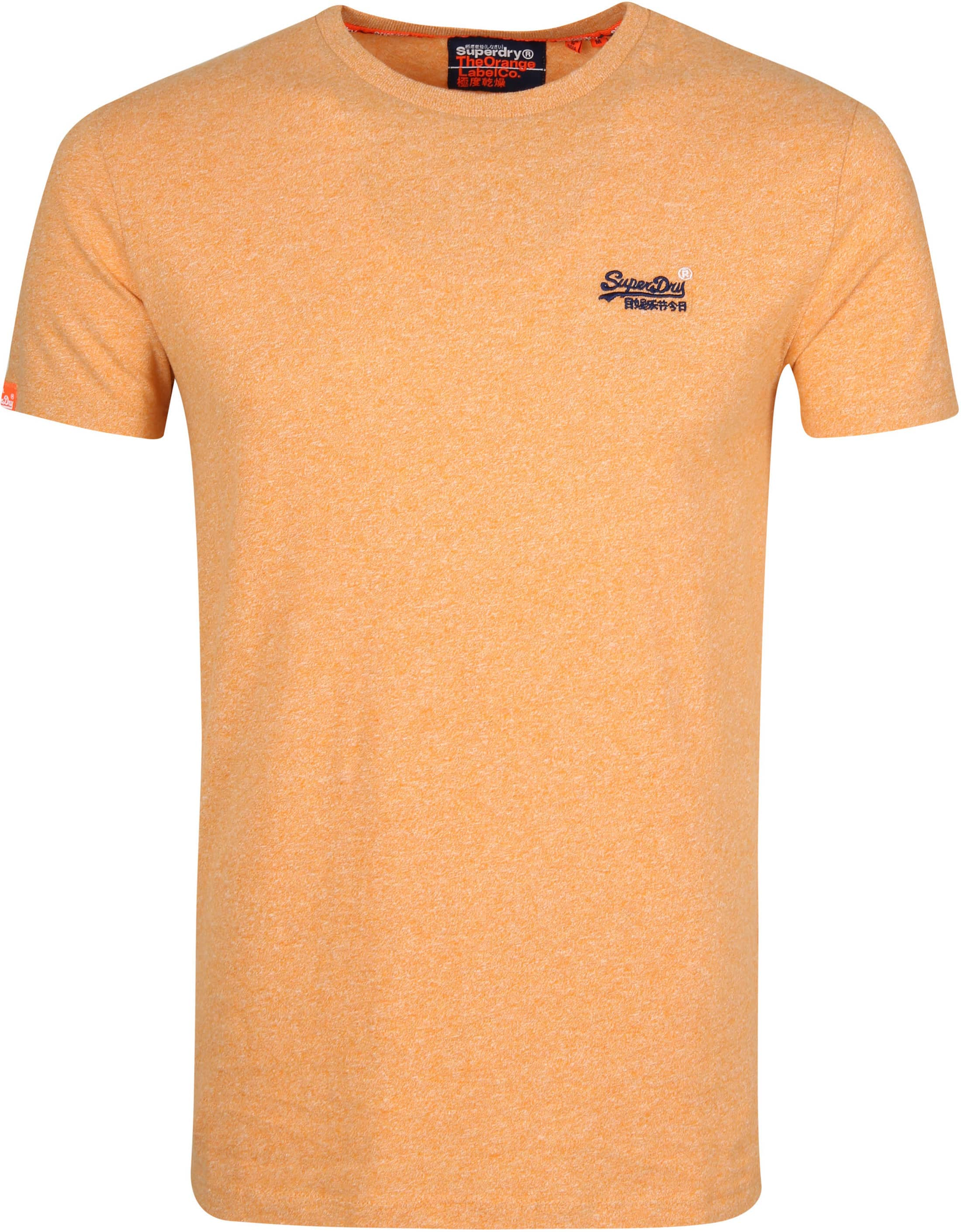 Superdry T Shirt Embroidery Oranje