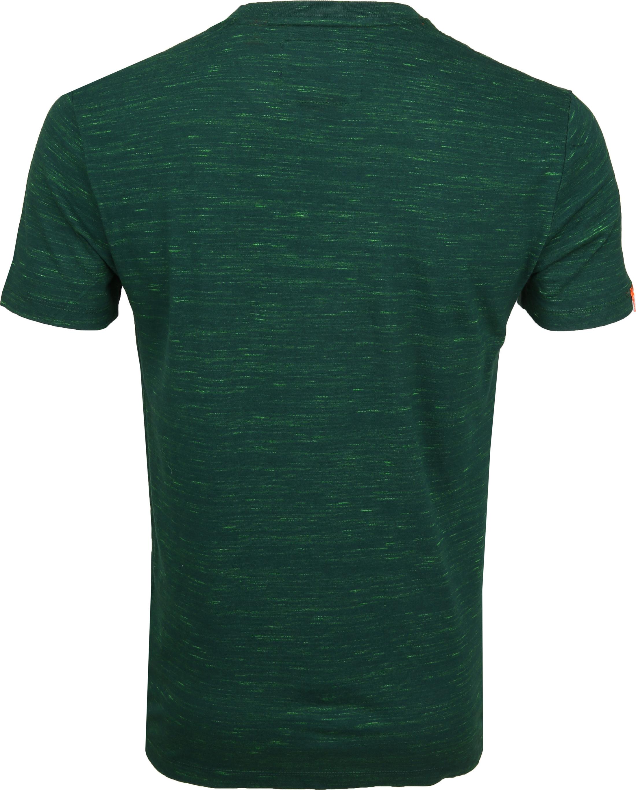 Superdry T-Shirt Melange Green foto 2