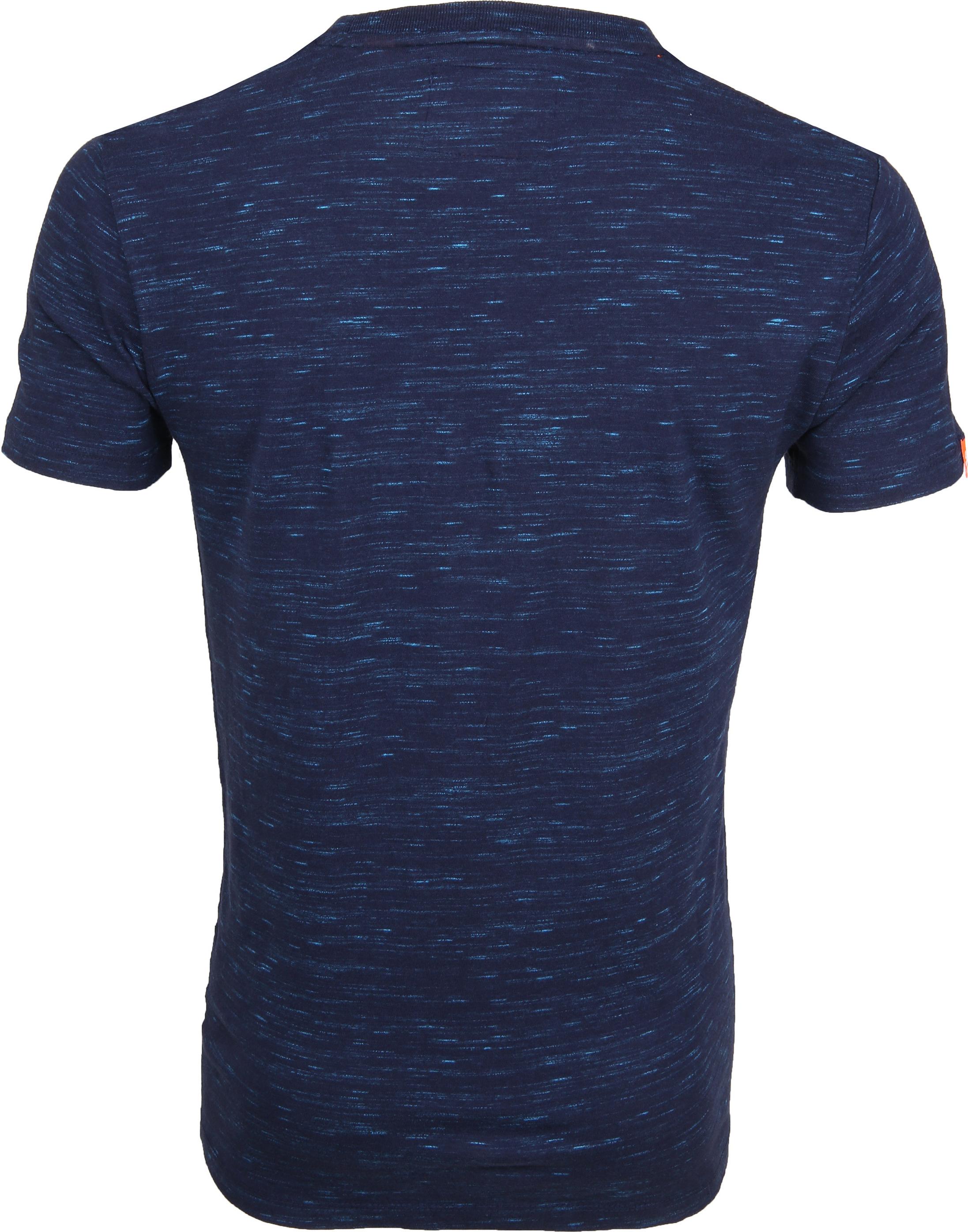 Superdry T-Shirt Navy Melange foto 3
