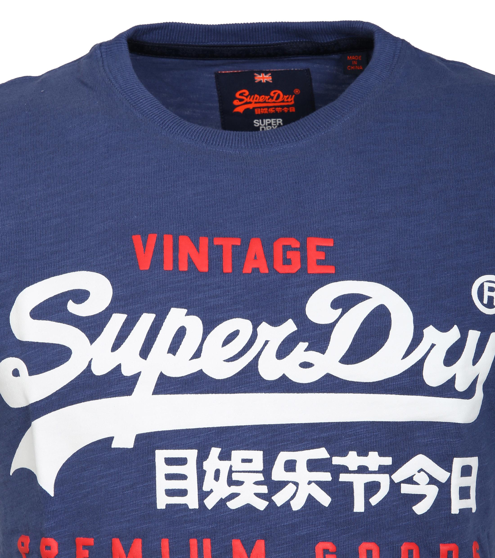 Superdry T-Shirt Premium Goods Blauw foto 1