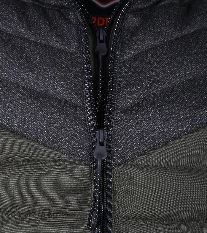 Superdry Tweed Mix Fuji Donkergroen foto 2