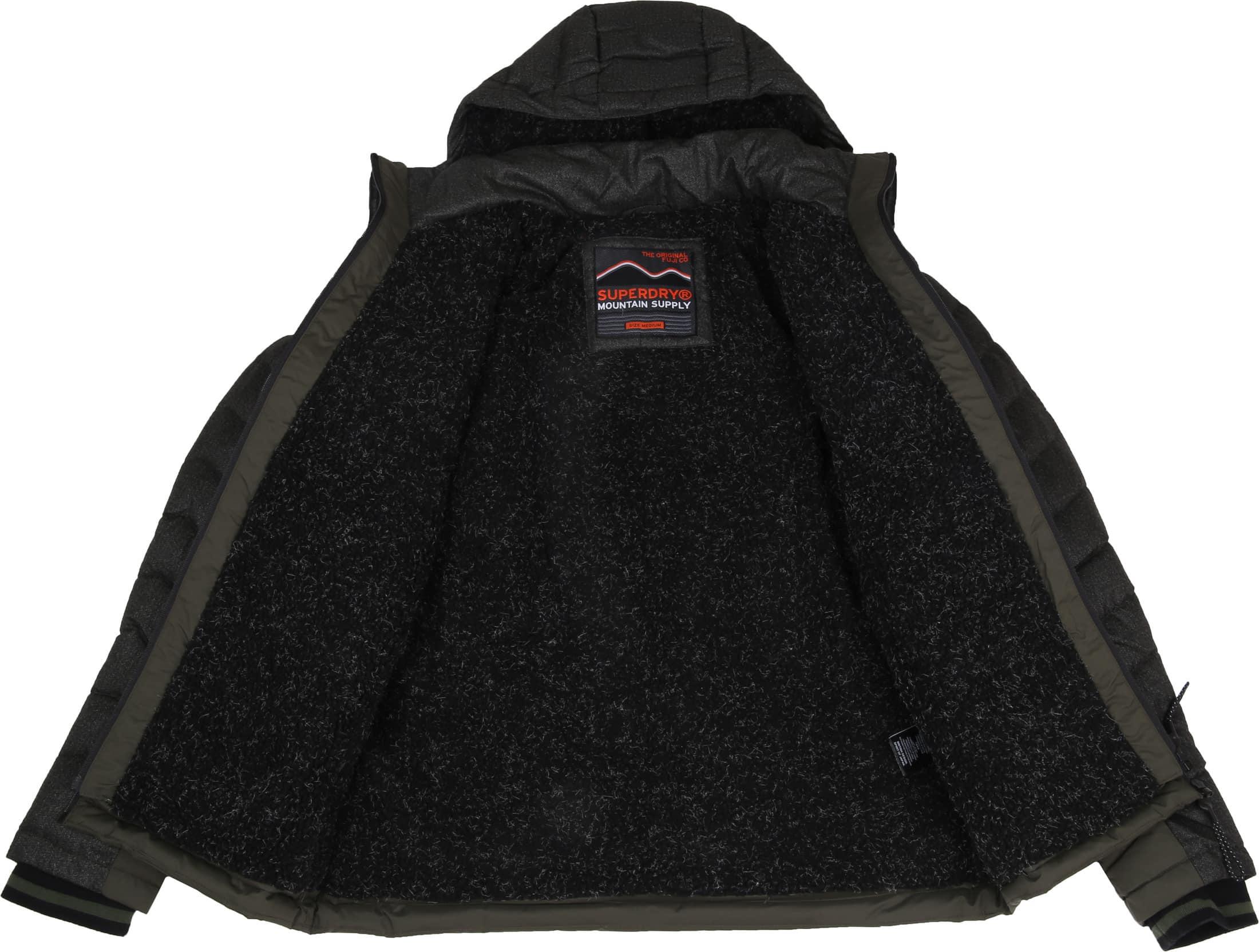 Superdry Tweed Mix Fuji Donkergroen foto 6