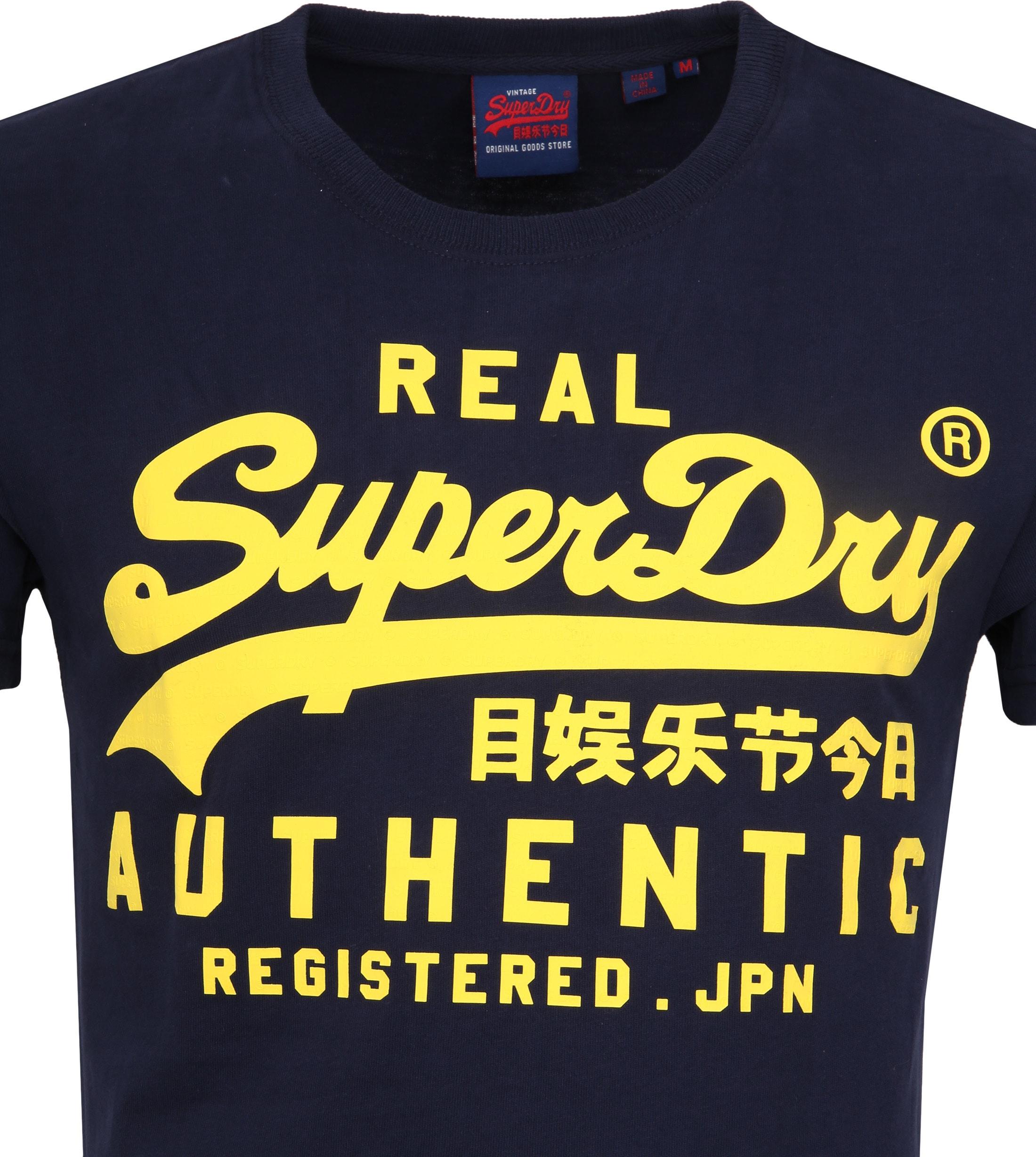 Superdry Vintage Authentic T-Shirt Navy foto 1