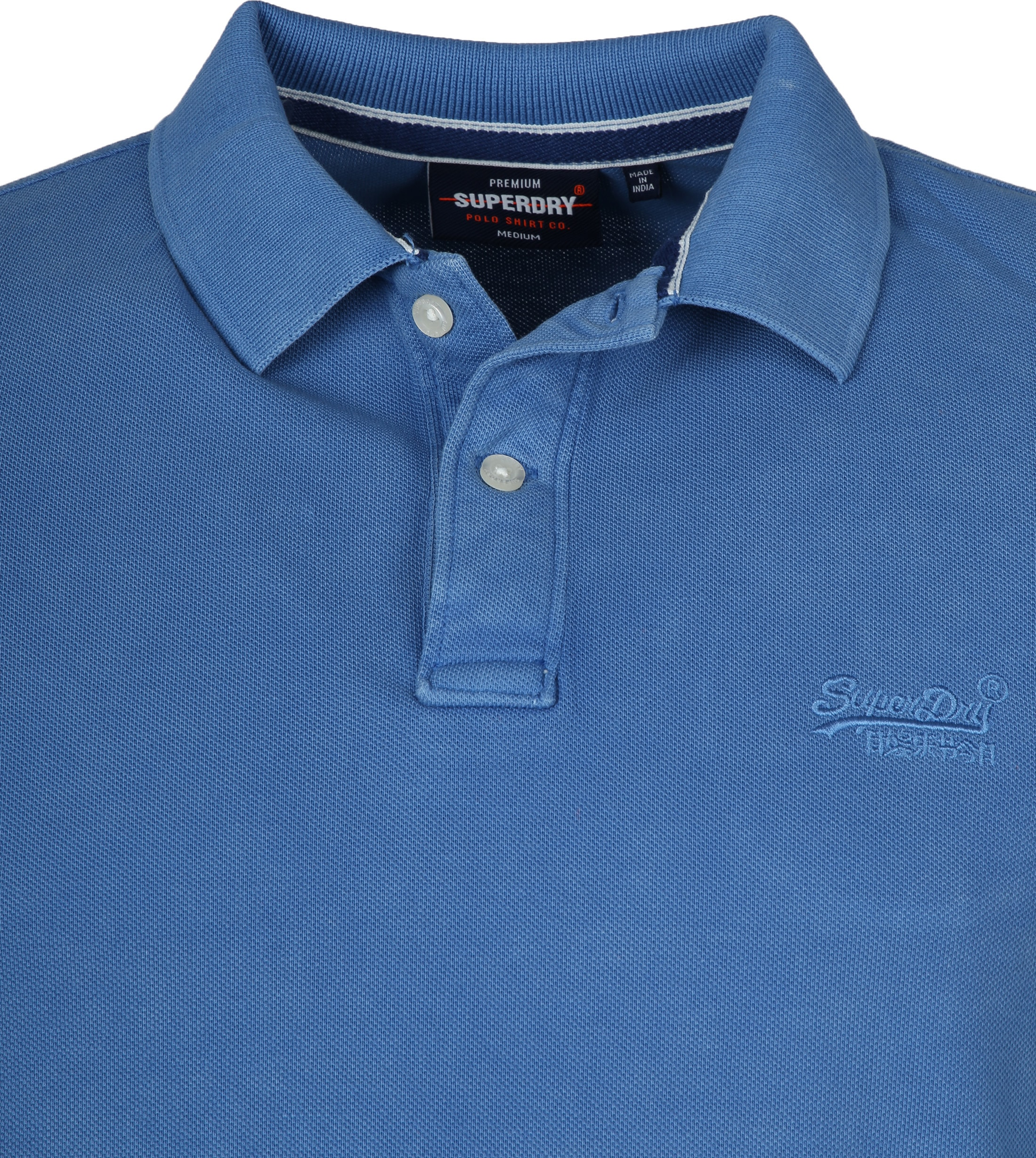 Superdry Vintage Destroyed Pique Polo Blauw