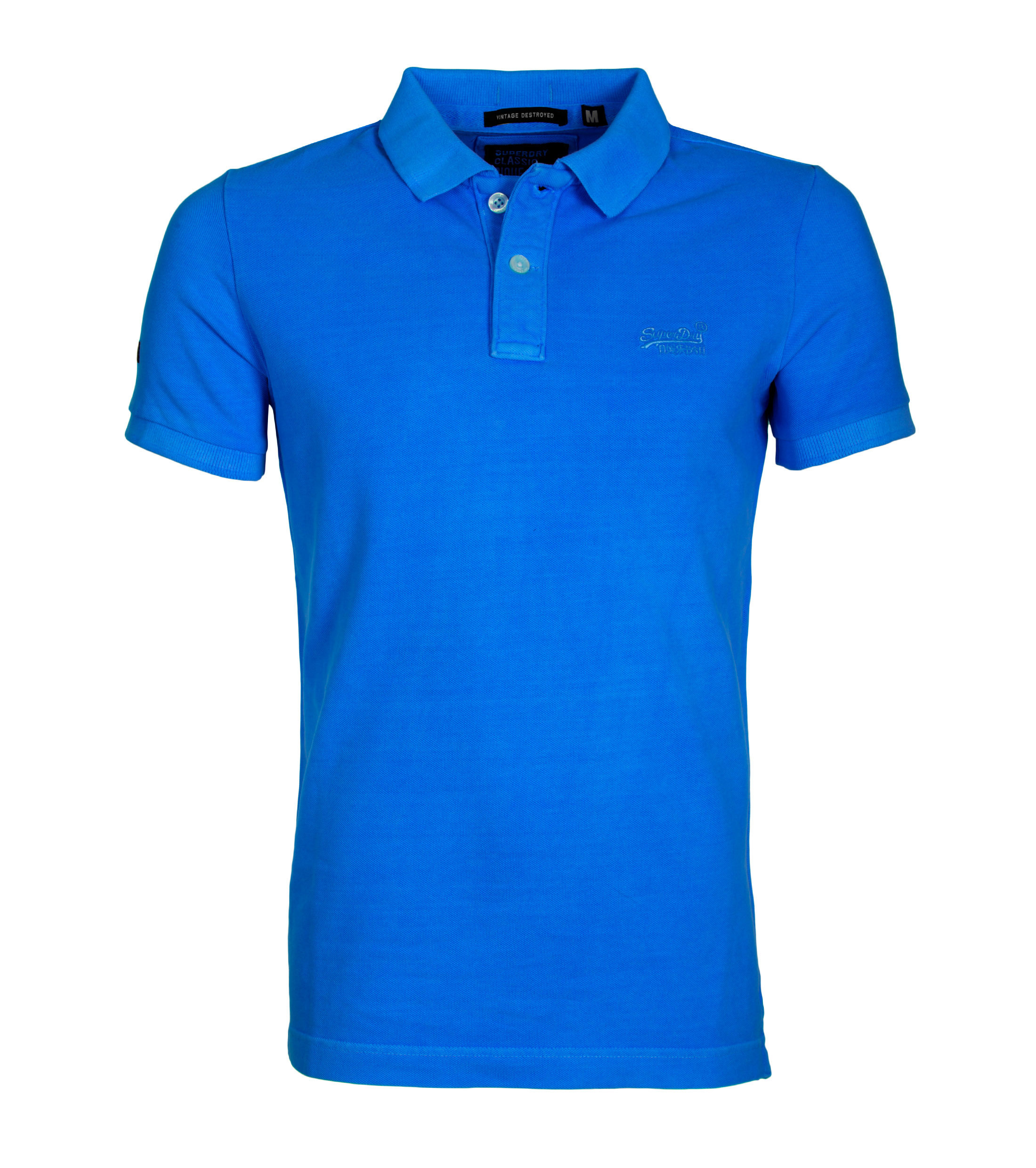 Superdry Vintage Destroyed Polo Blauw foto 0