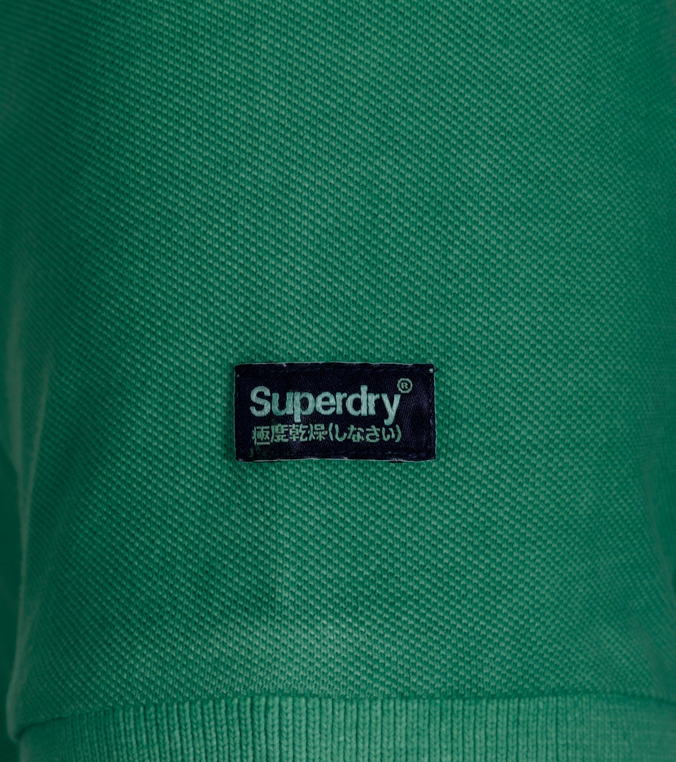 Superdry Vintage Destroyed Polo Green foto 2