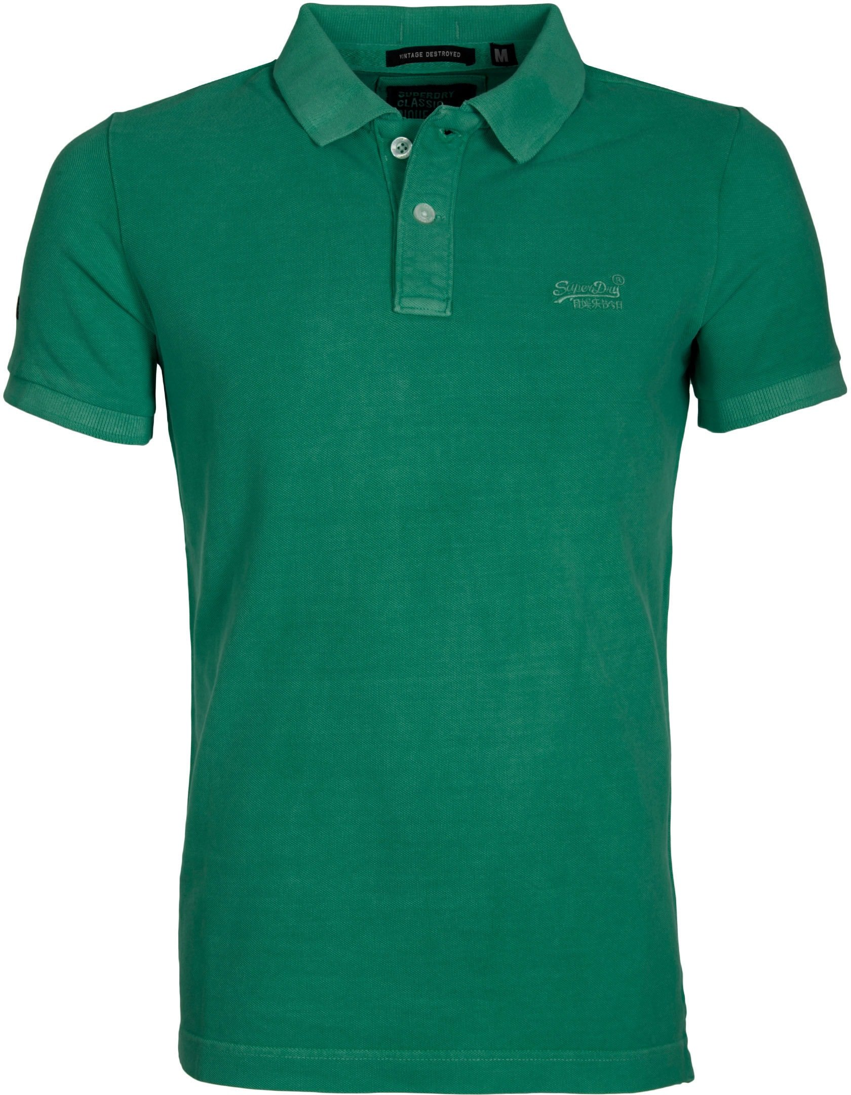 Superdry Vintage Destroyed Polo Green foto 0