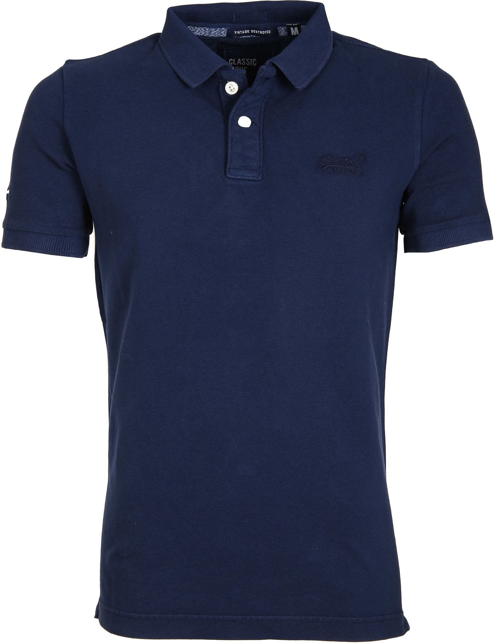 Superdry Vintage Destroyed Polo Navy foto 0