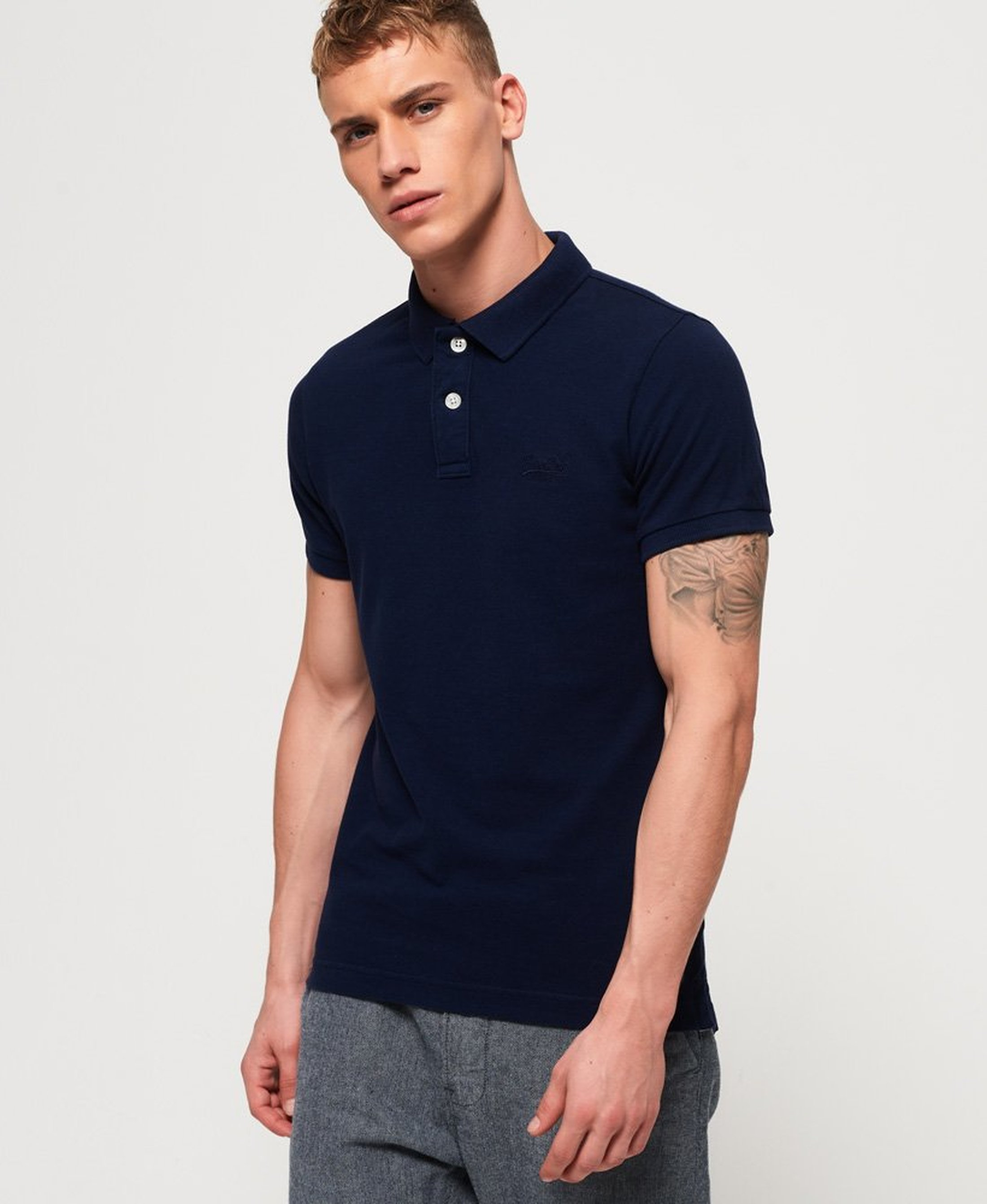 Superdry Vintage Destroyed Polo Navy foto 4