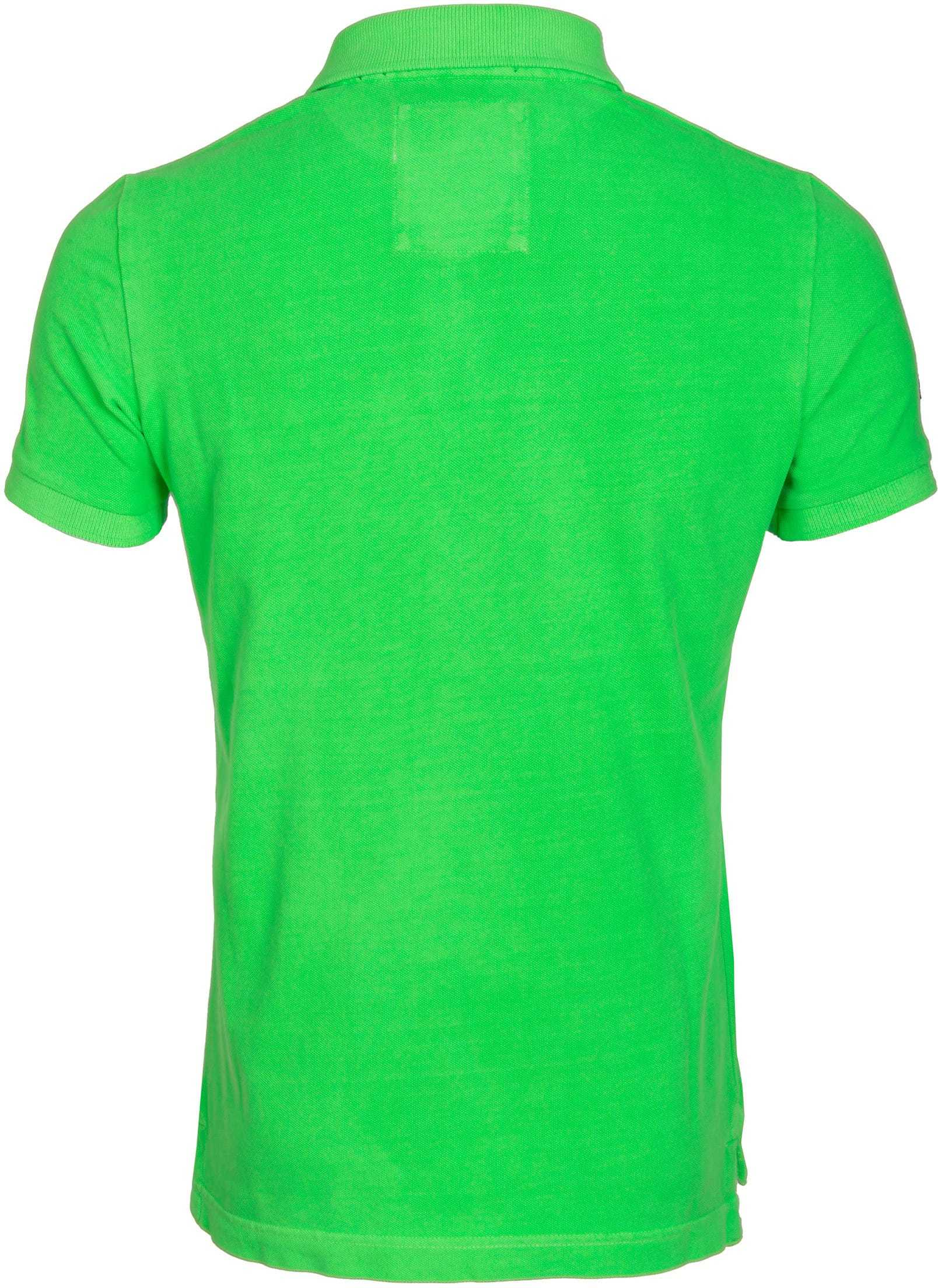 Superdry Vintage Destroyed Polo Neon Groen foto 3