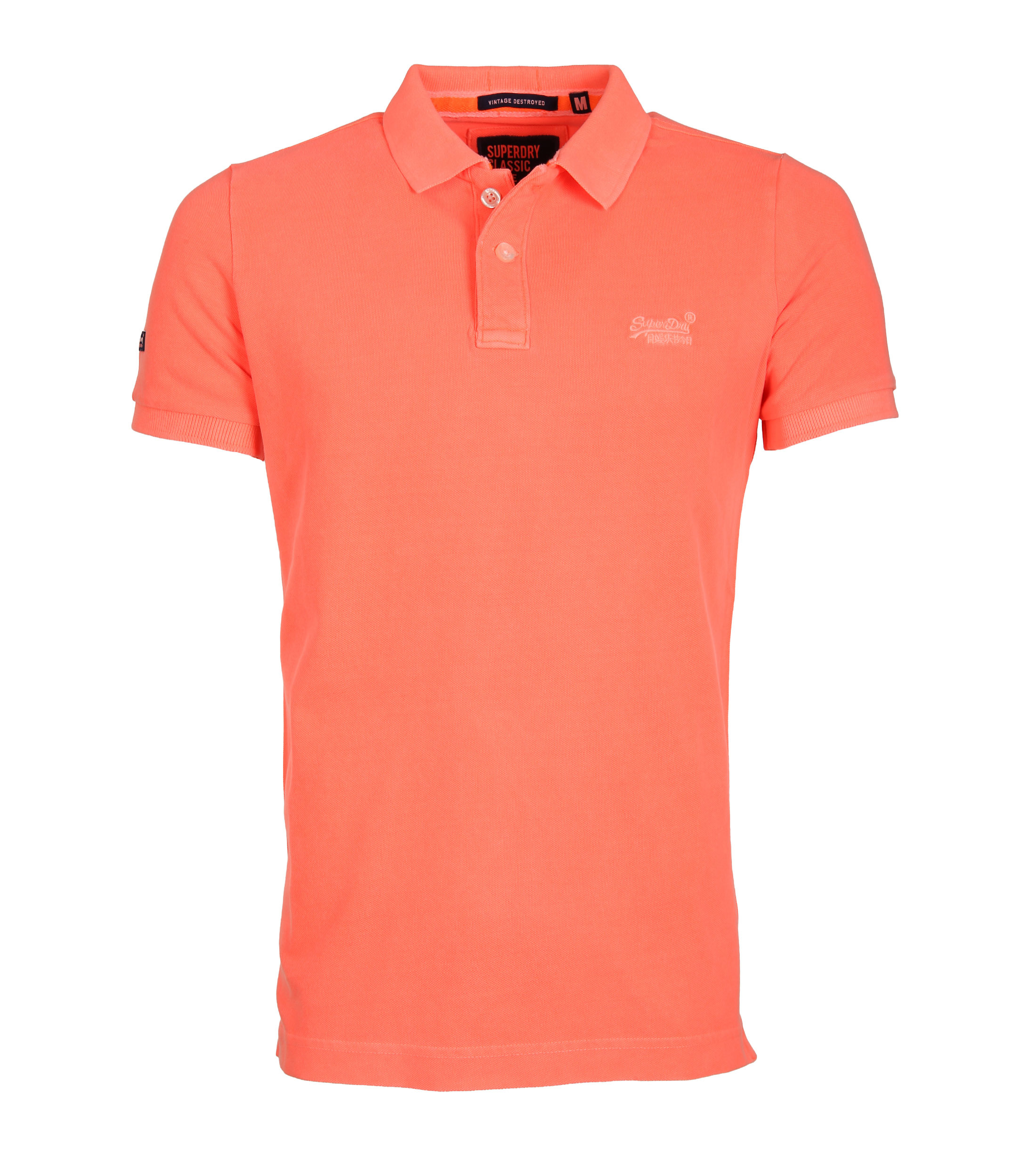 Superdry Vintage Destroyed Polo Oranje foto 0
