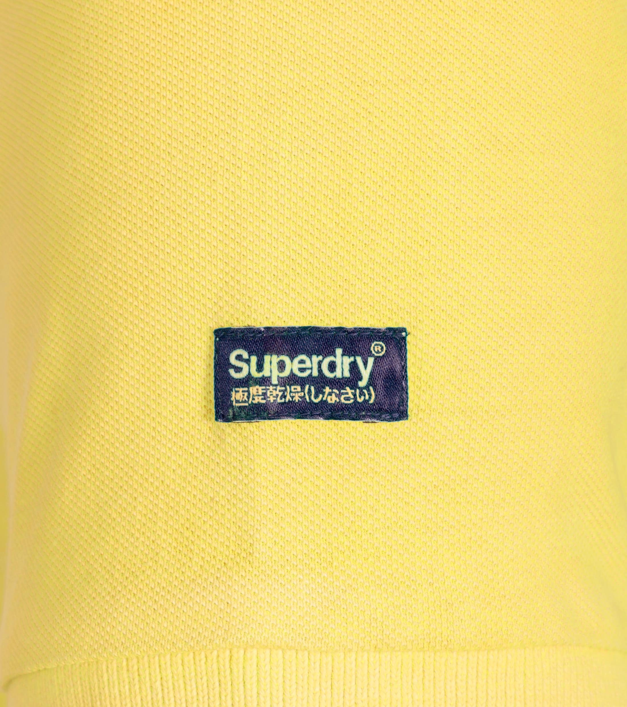 Superdry Vintage Destroyed Polo Yellow foto 2