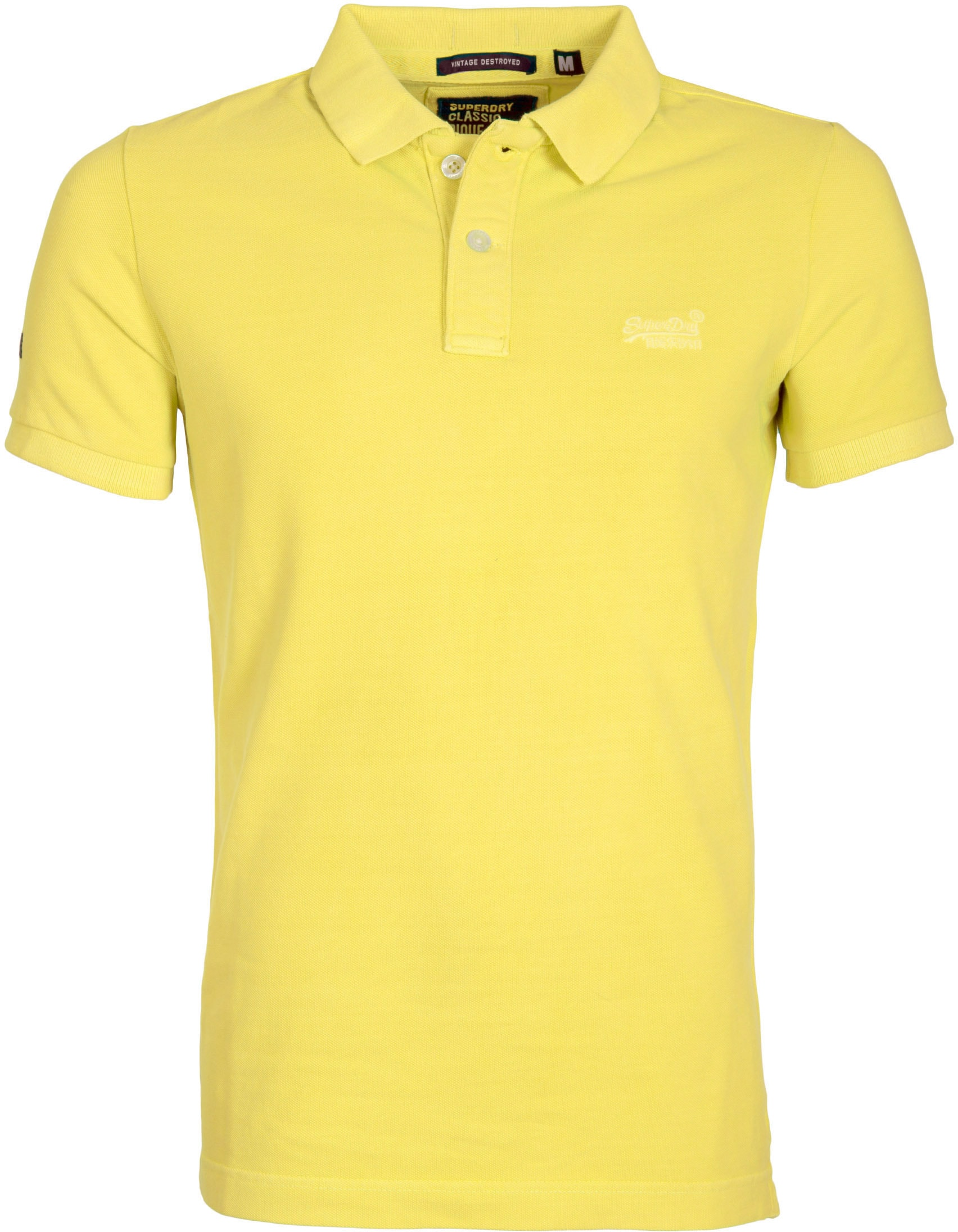 Superdry Vintage Destroyed Polo Yellow foto 0