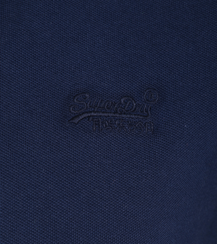 Superdry Vintage Destroyed Poloshirt Dunkelblau foto 1