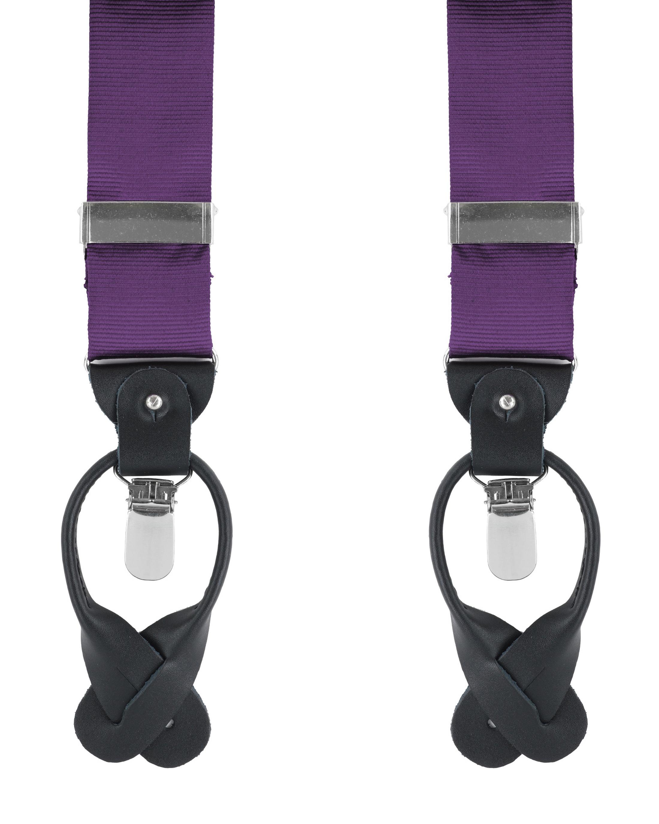 Suspenders Silk Dark Purple F62 foto 0