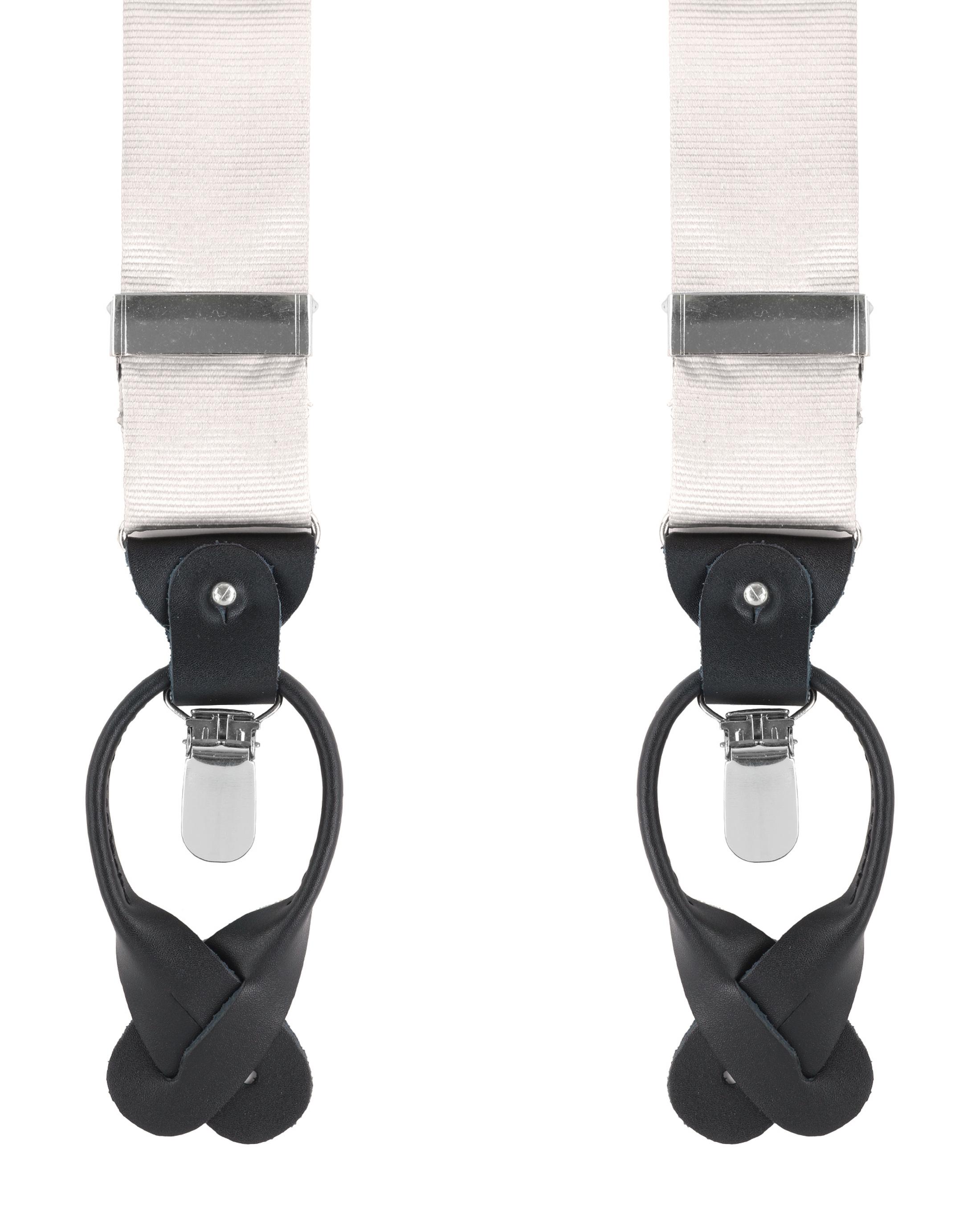 Suspenders Silk Ecry F09