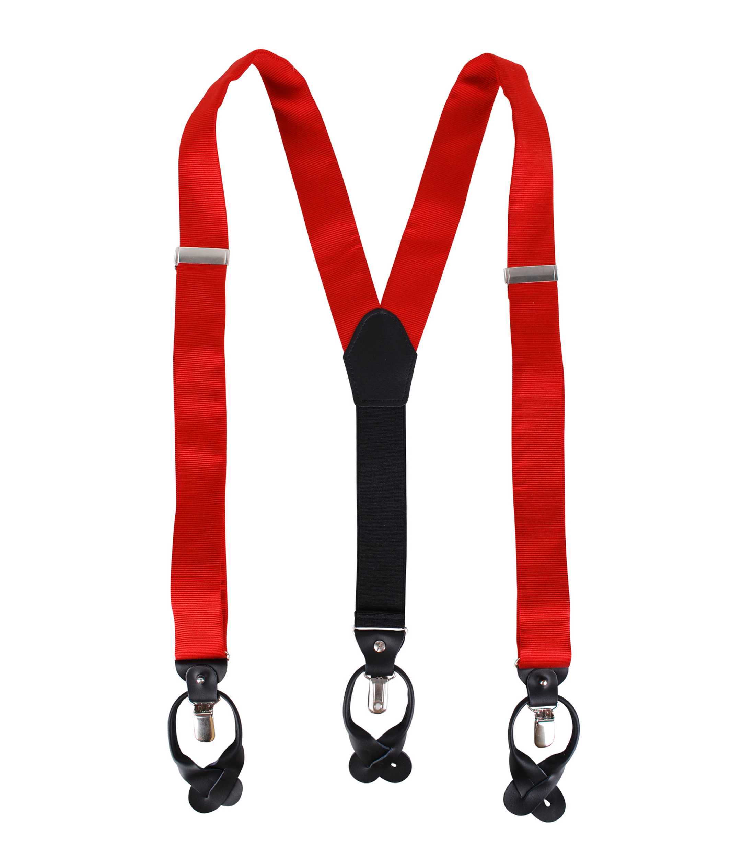 Suspenders Silk Red F34 foto 1