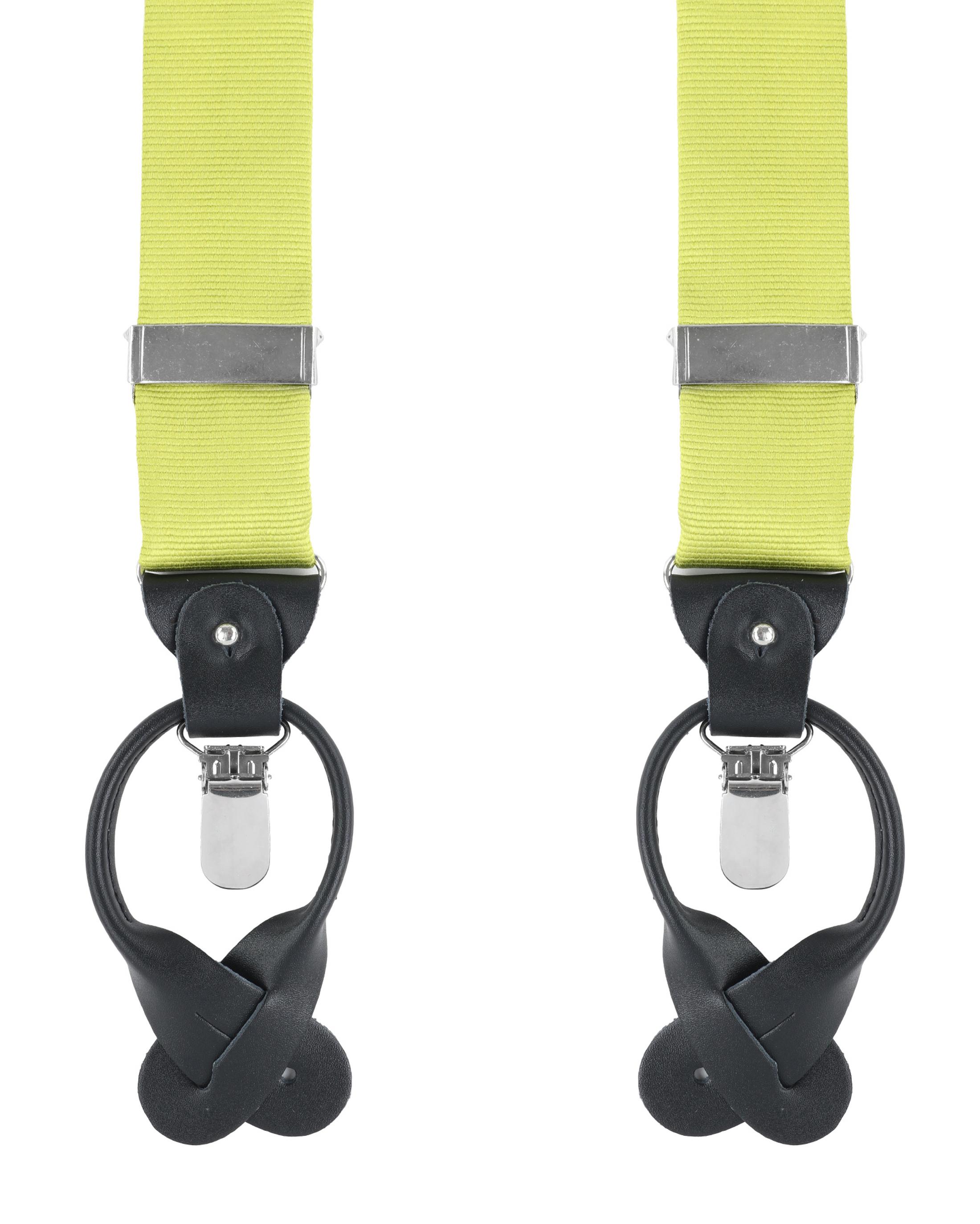 Suspenders Silm Lime Green F04 foto 0