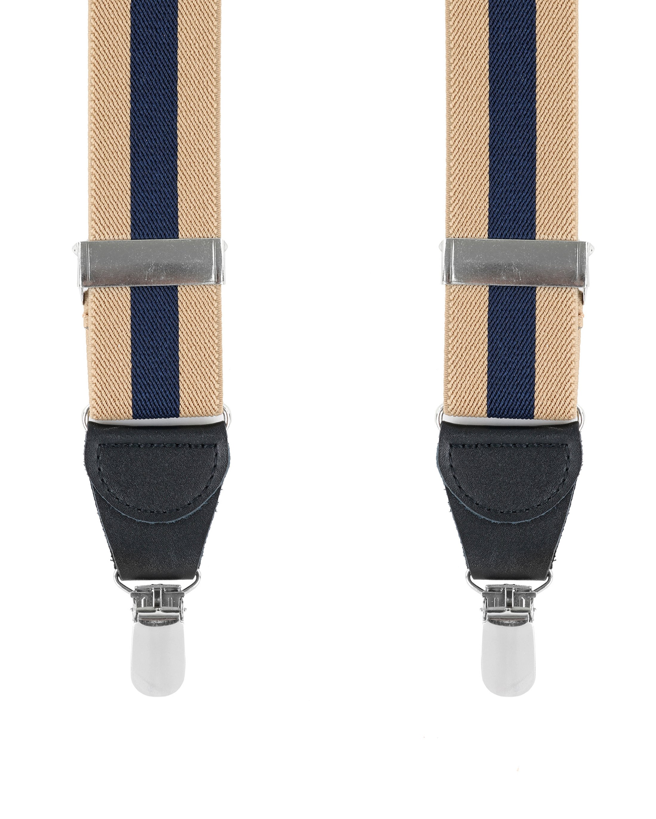 Suspenders Striped Camel + Navy foto 0