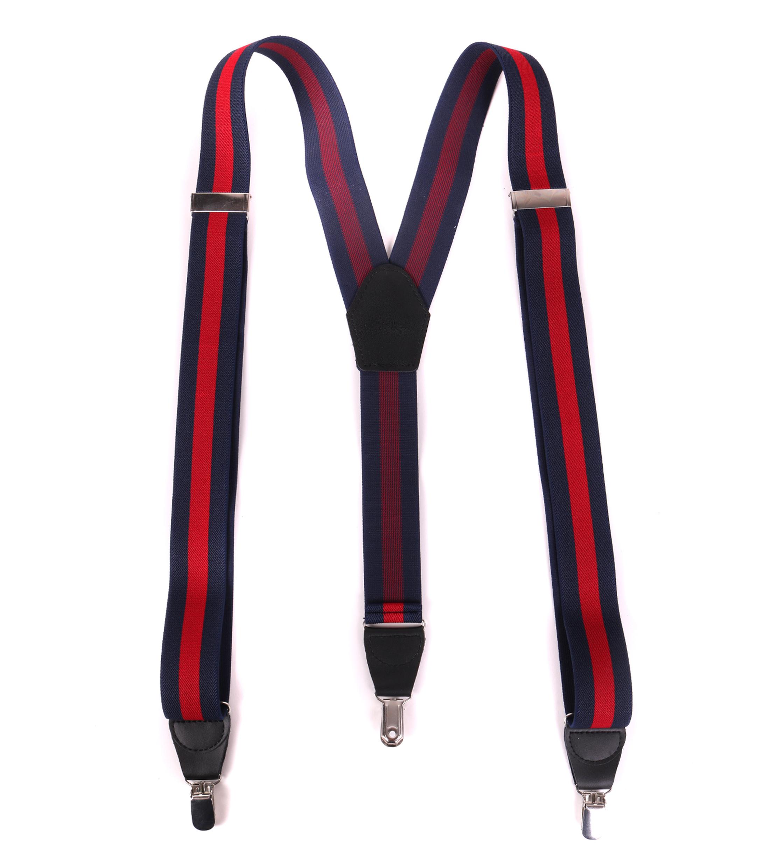 Suspenders Striped Navy + Red foto 1