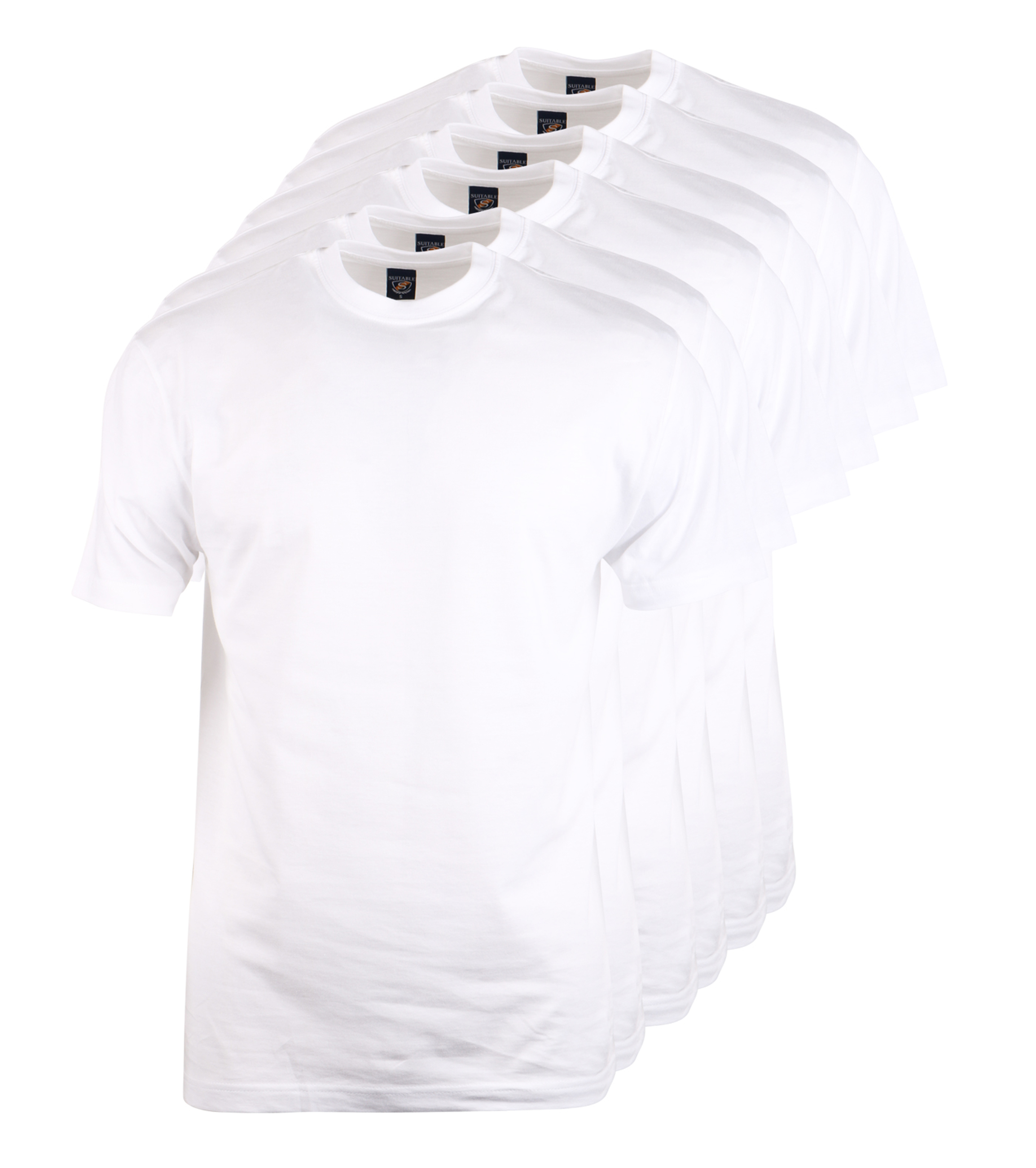 T shirt brede ronde hals 6 pack 6 stuks for Designhotel maastricht comfort xl