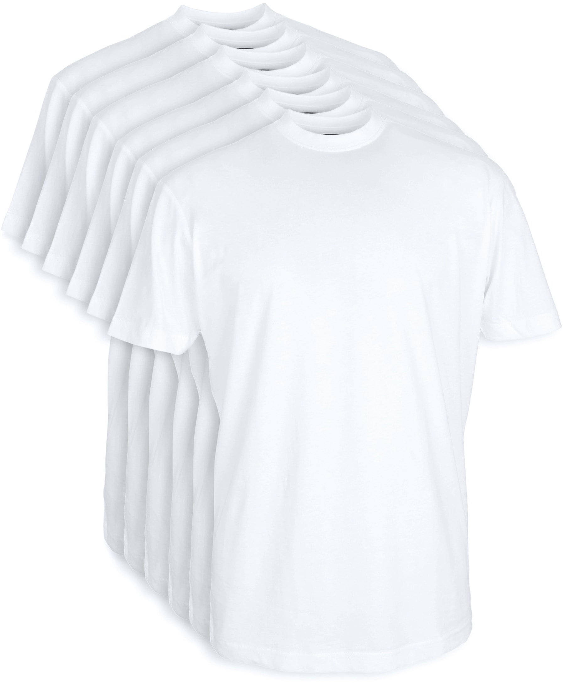 T-Shirt Breiter Rund Hals 6-Pack (6 Stück) Weiß foto 0