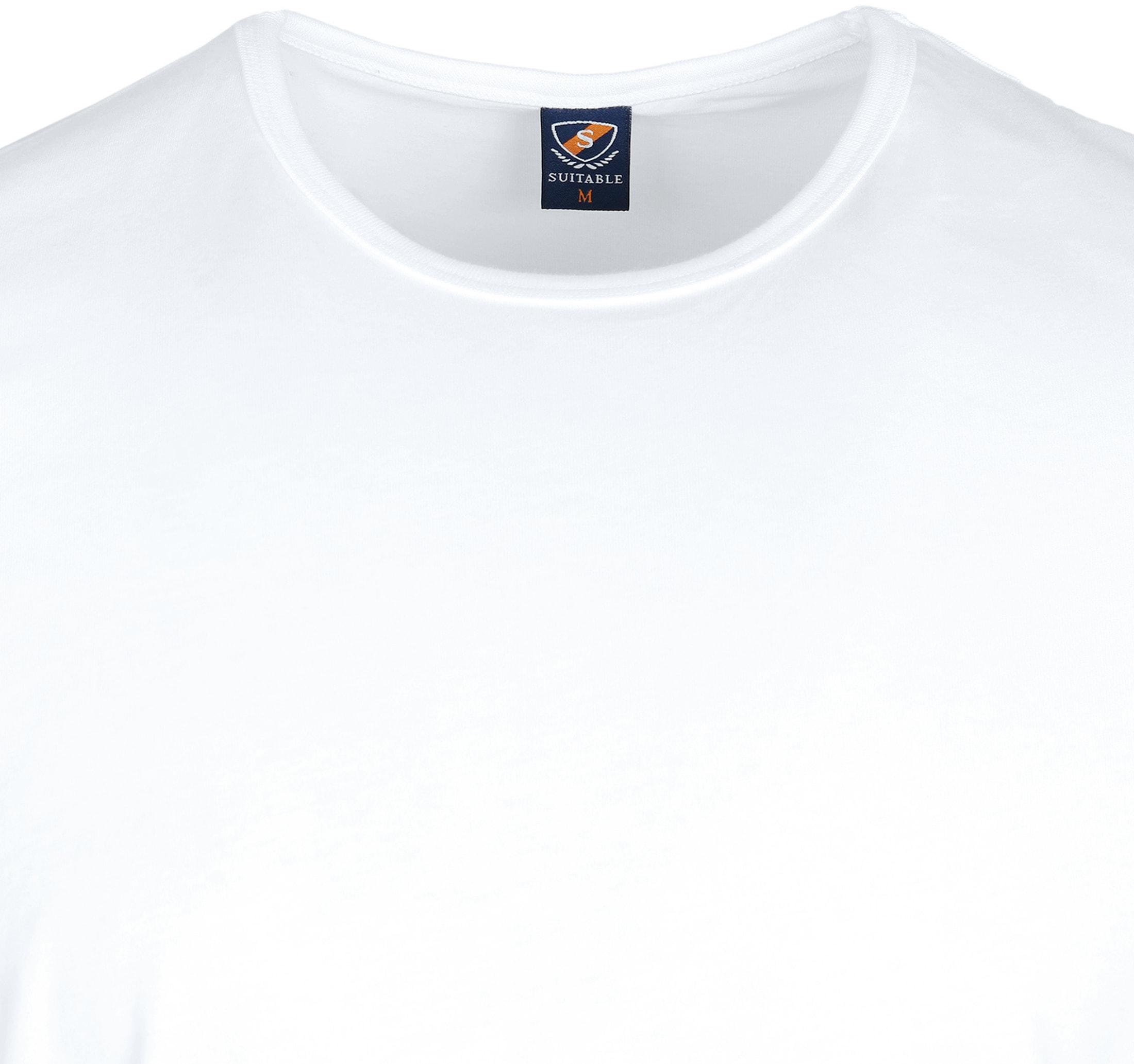 T-Shirt Rund Hals 2-Pack (2 Stück) Weiß foto 2