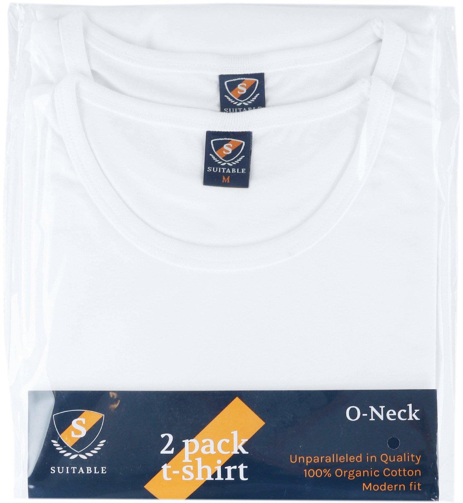 T-Shirt Rund Hals 2-Pack (2 Stück) Weiß foto 5