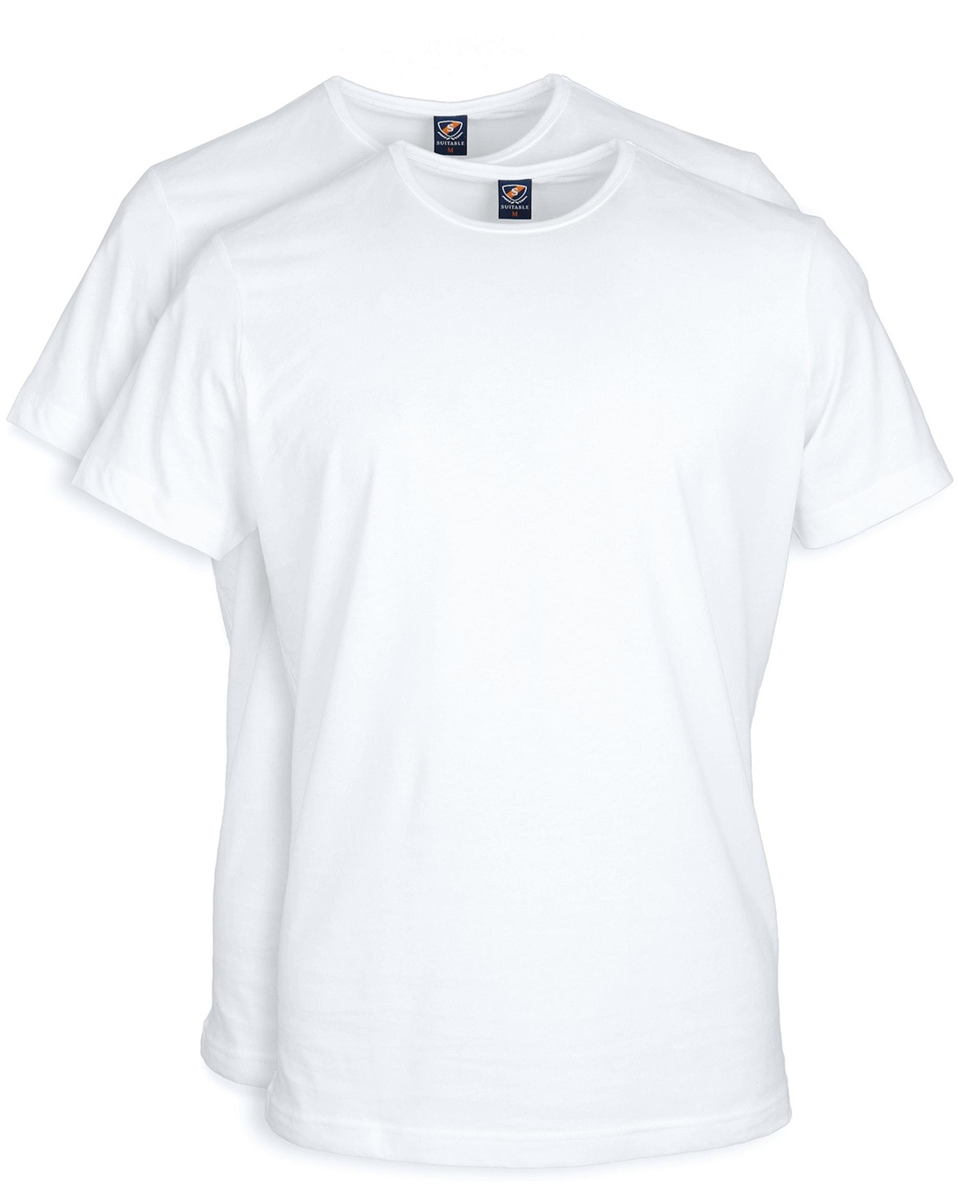 T-Shirt Rund Hals 2-Pack (2 Stück) Weiß foto 0