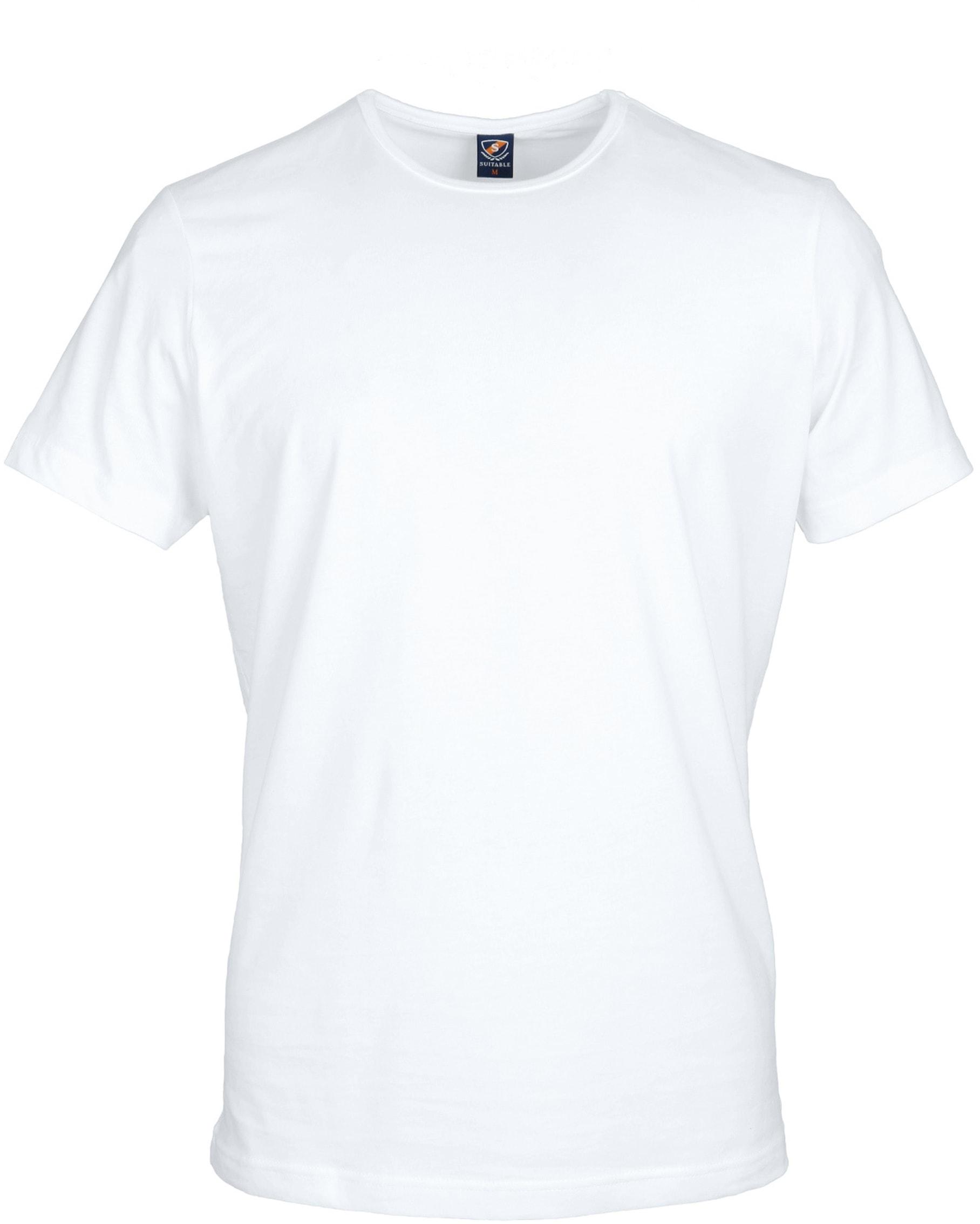 T-Shirt Rund Hals 2-Pack (2 Stück) Weiß foto 1