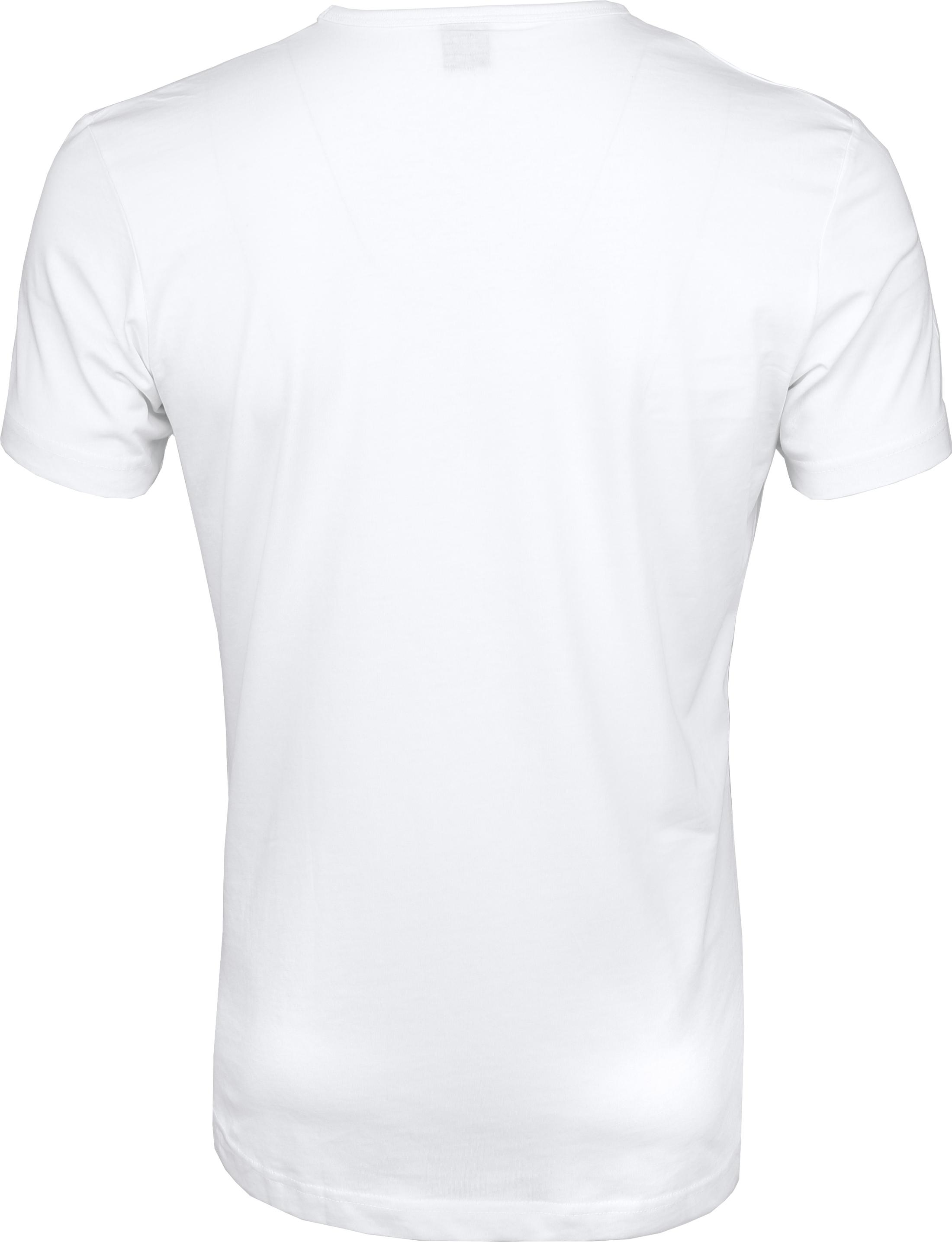 T-Shirt Rund Hals 6-Pack (6 Stück) Weiß foto 5
