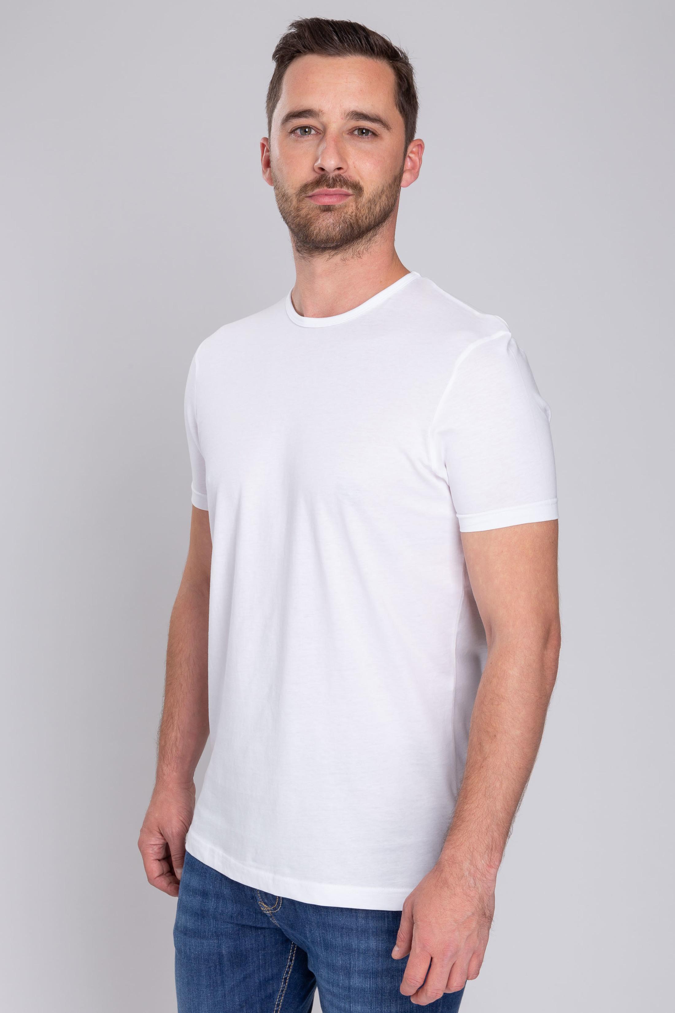 T-Shirt Rund Hals 6-Pack (6 Stück) Weiß foto 6