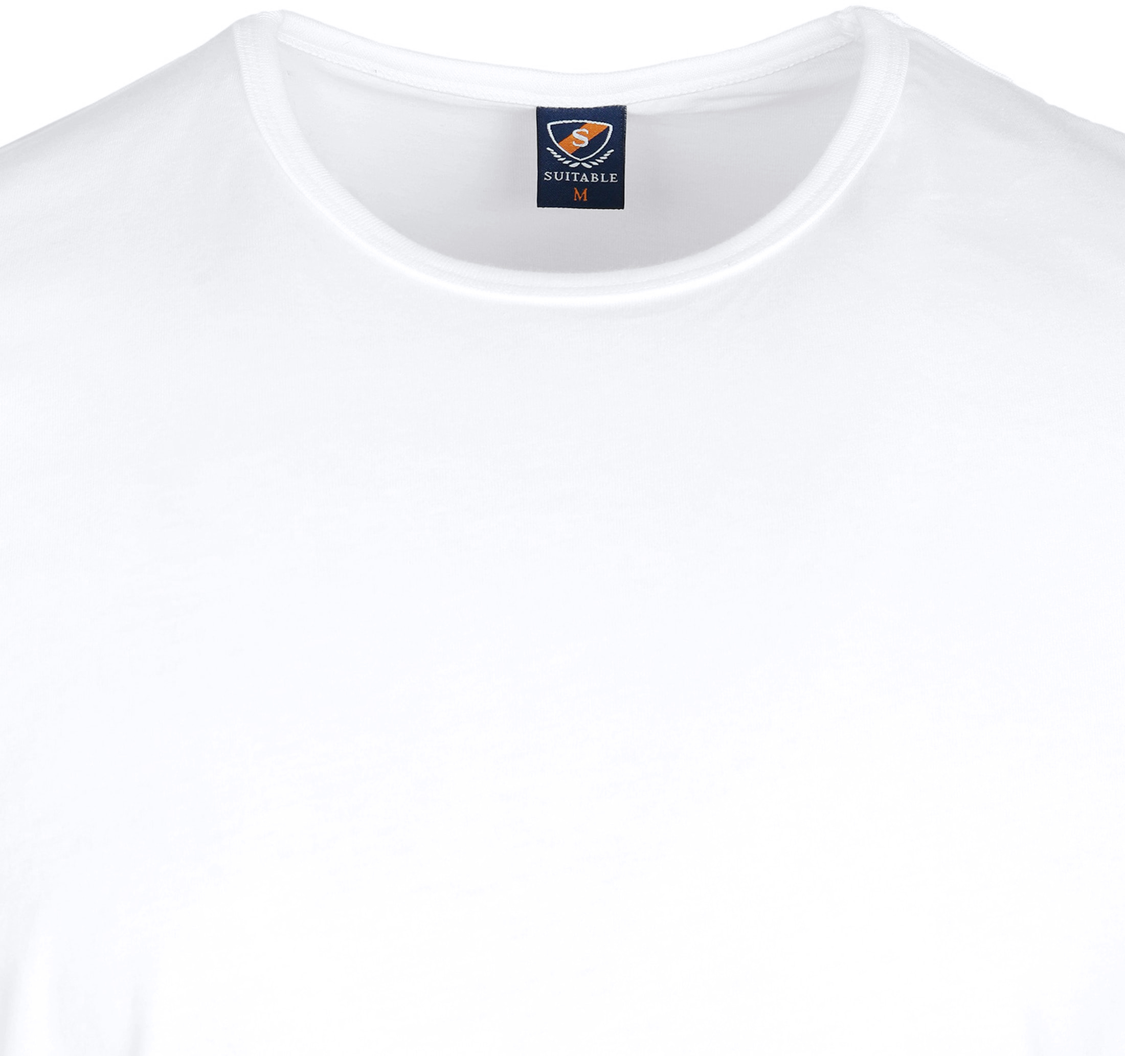 T-Shirt Rund Hals 6-Pack (6 Stück) Weiß foto 3