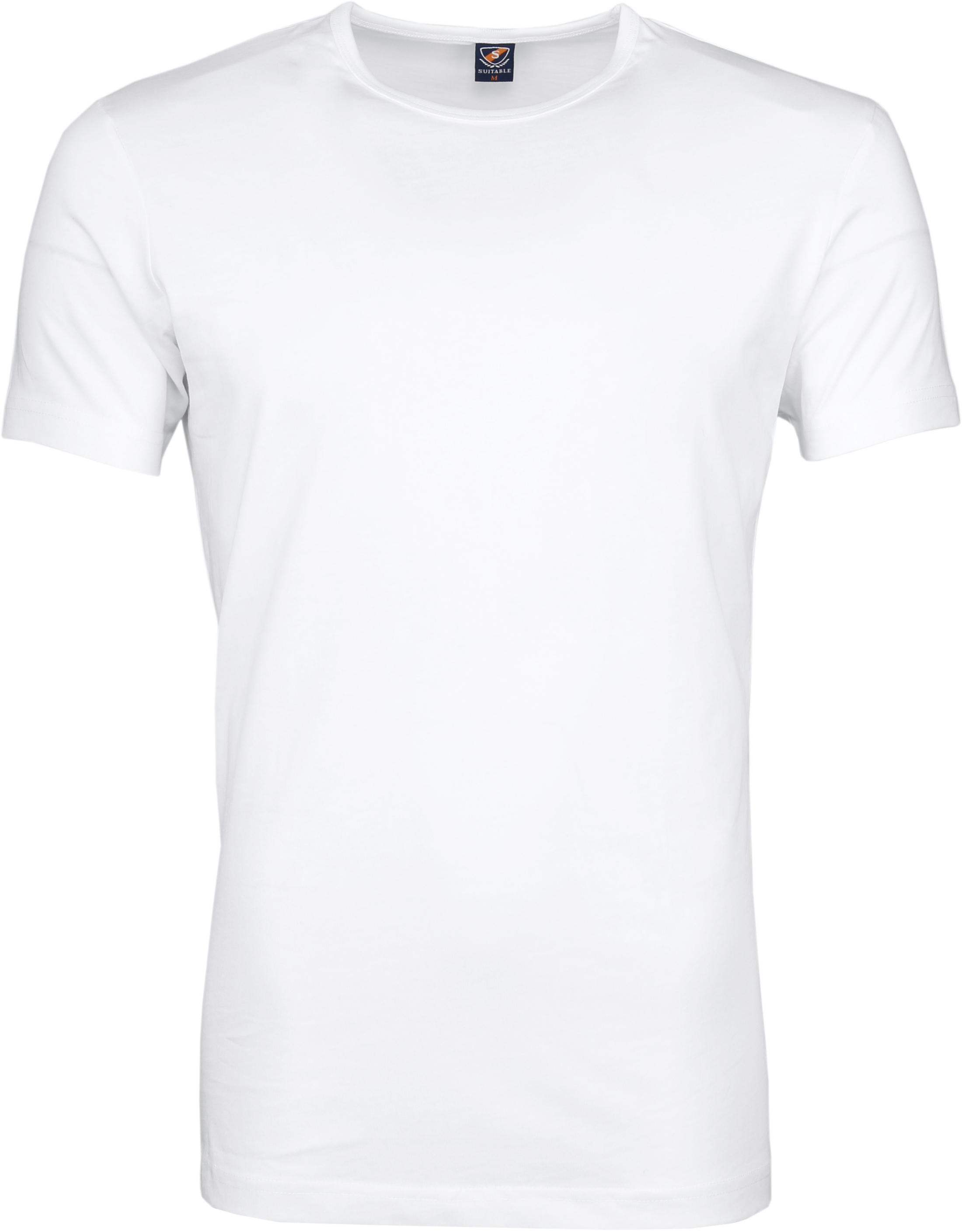 T-Shirt Rund Hals 6er Pack Weiß