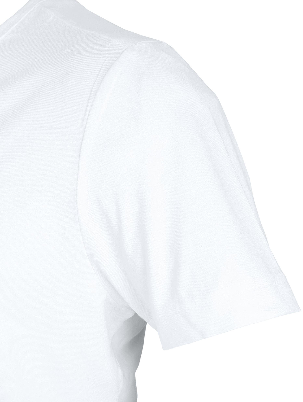 T-Shirt Tiefer V-Ausschnitt 4-Pack Stretch Weiß foto 3