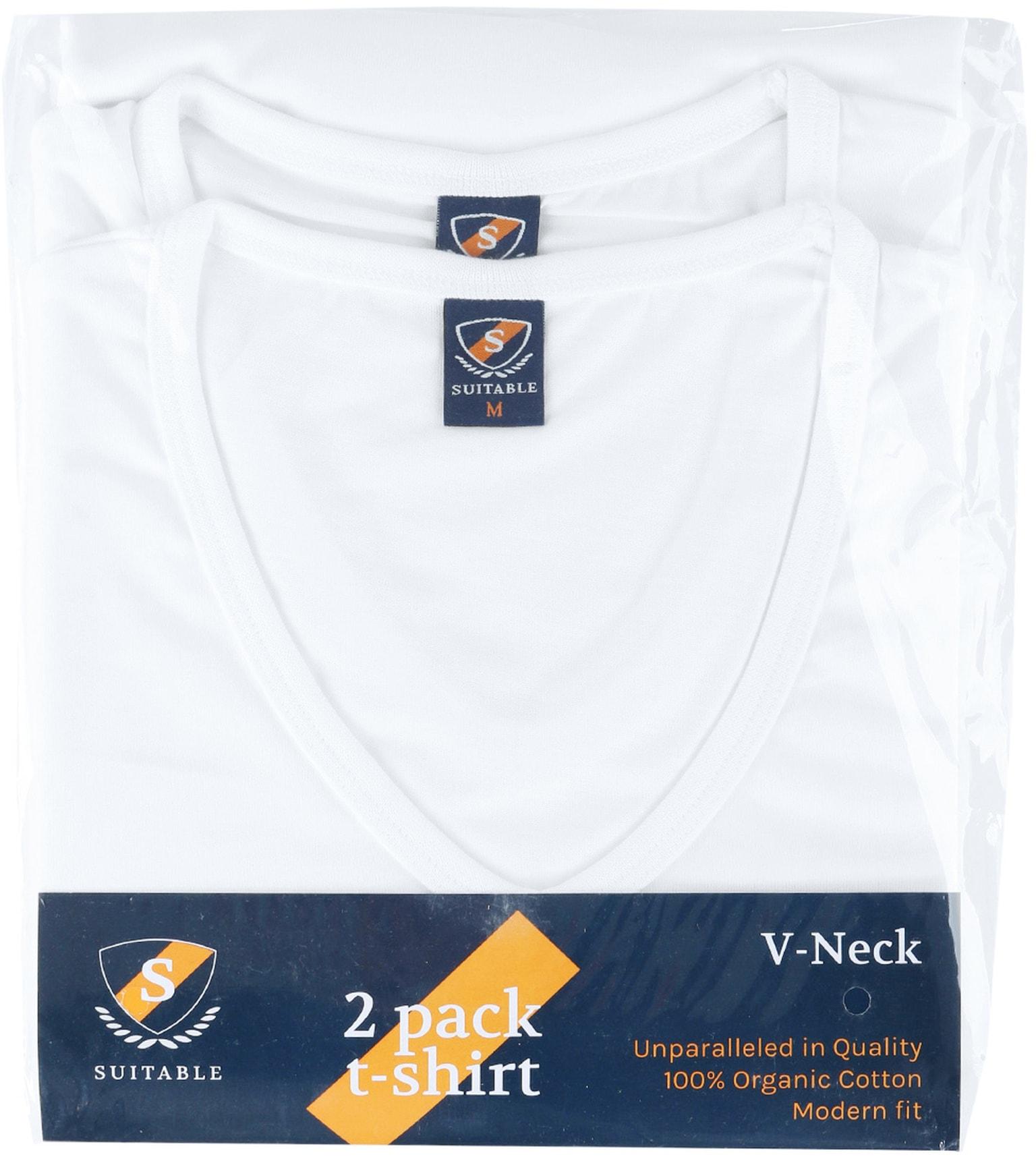 T-Shirt V-Ausschnitt 6-Pack (6 Stück) Weiß foto 5