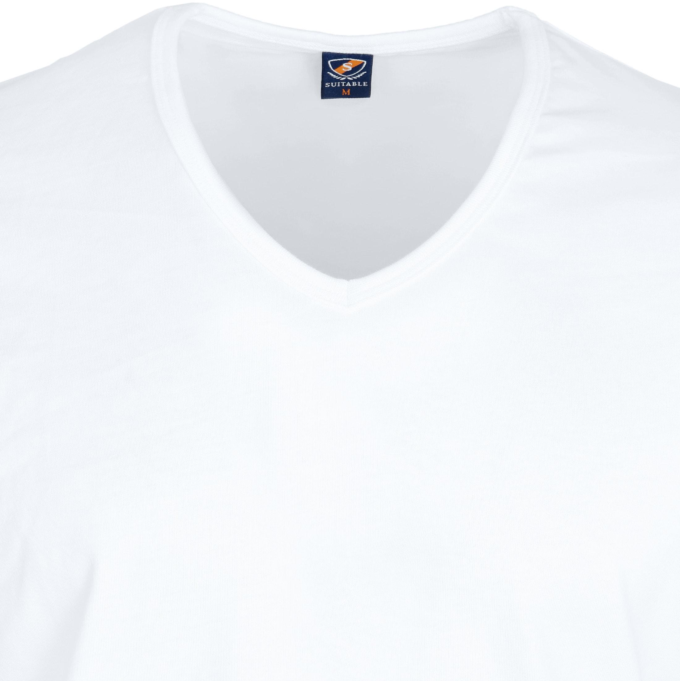 T-Shirt V-Ausschnitt 6-Pack (6 Stück) Weiß foto 2