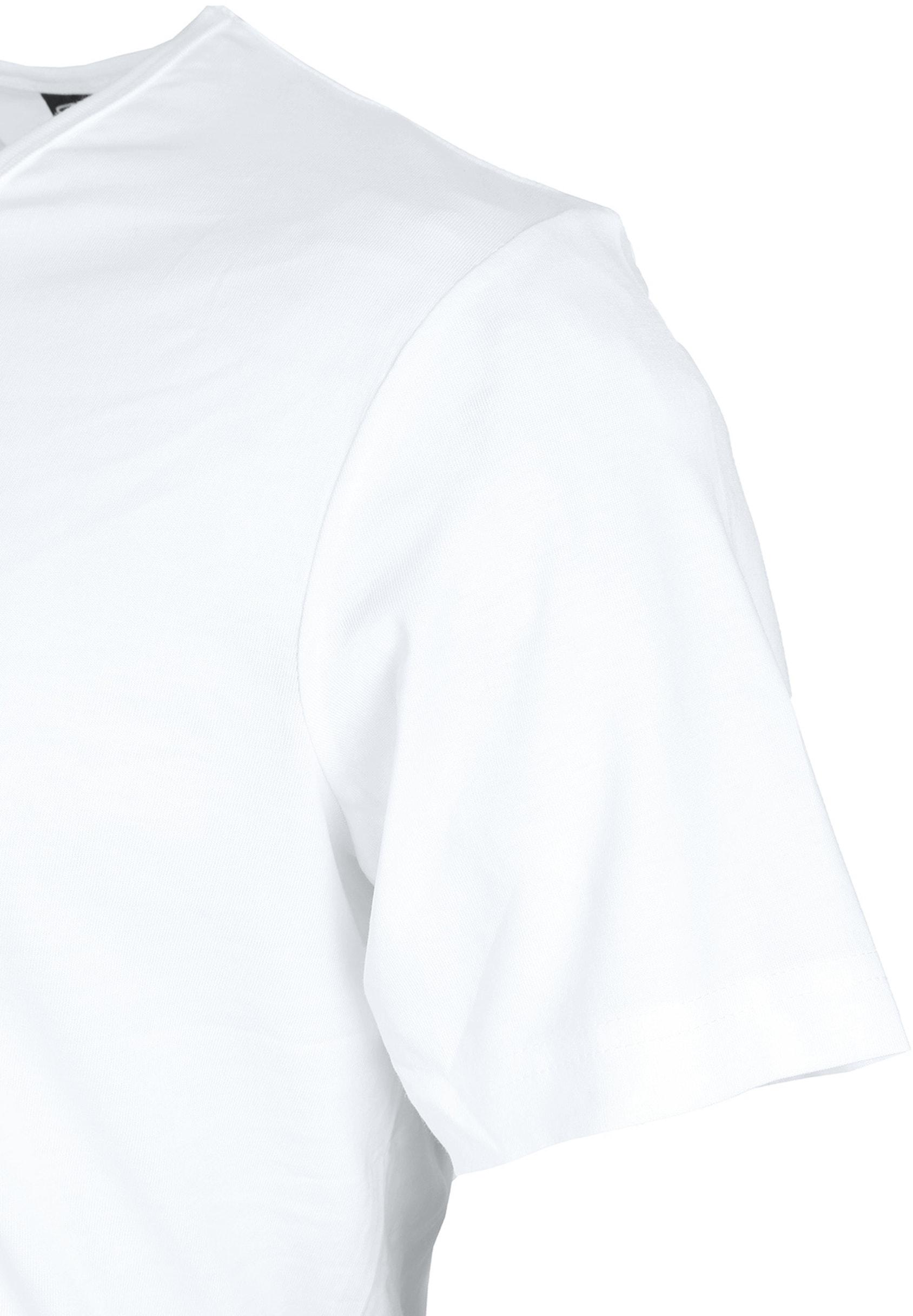 T-Shirt V-Ausschnitt 6er Pack Weiß