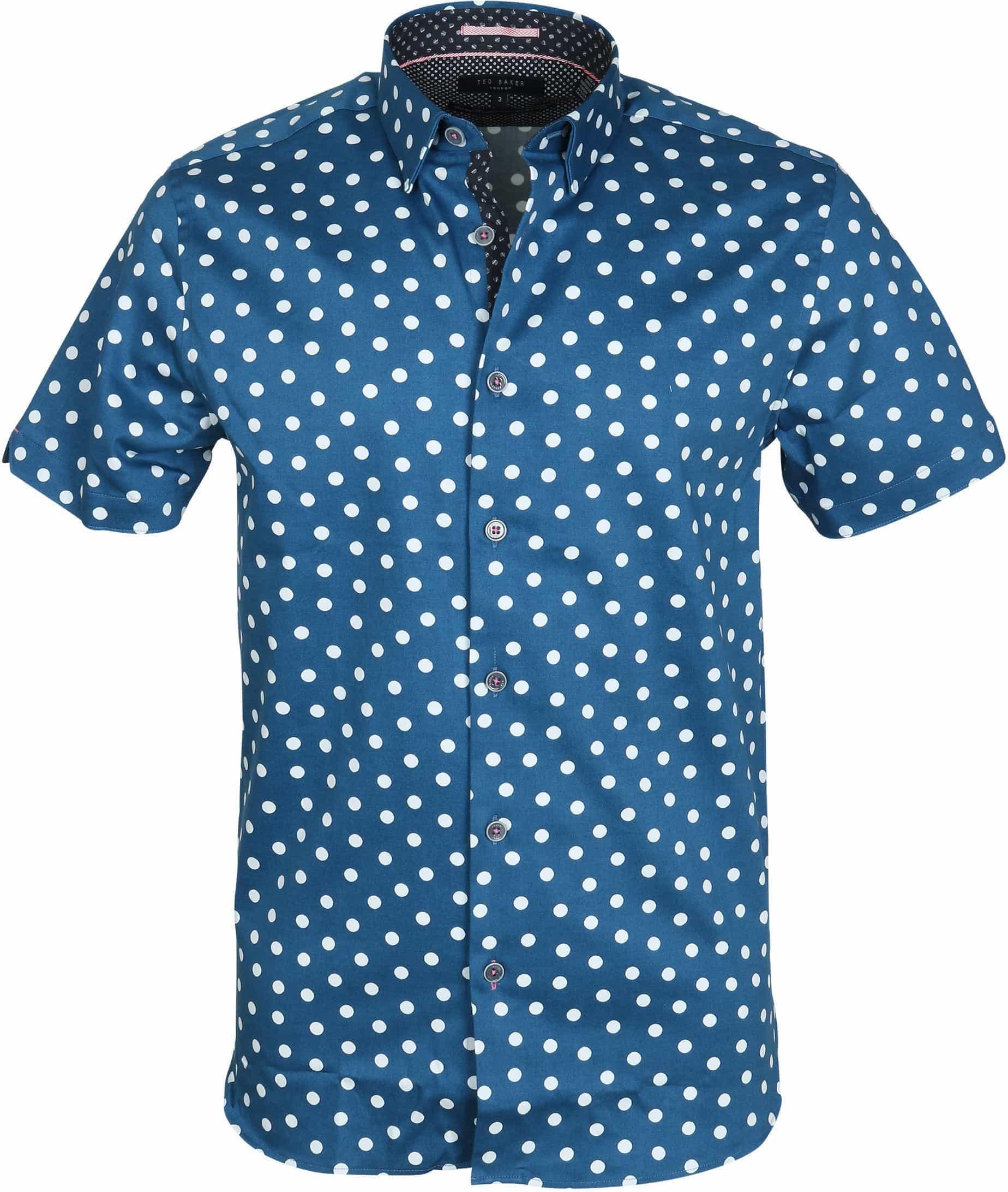 Ted Baker Overhemd Blauw Punten foto 0