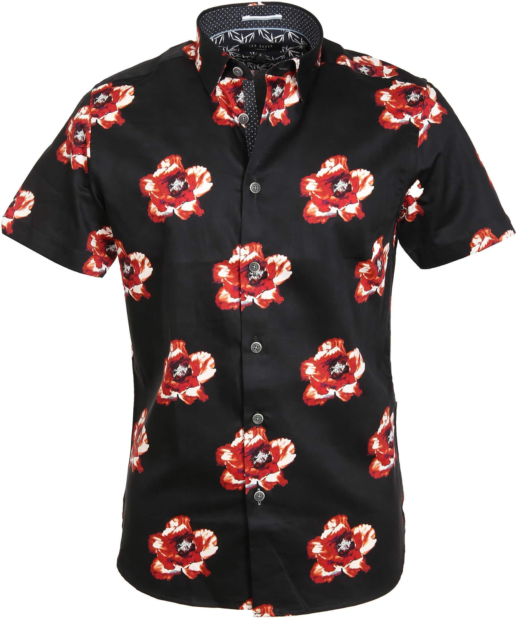 Ted Baker Overhemd Bloem Zwart foto 0