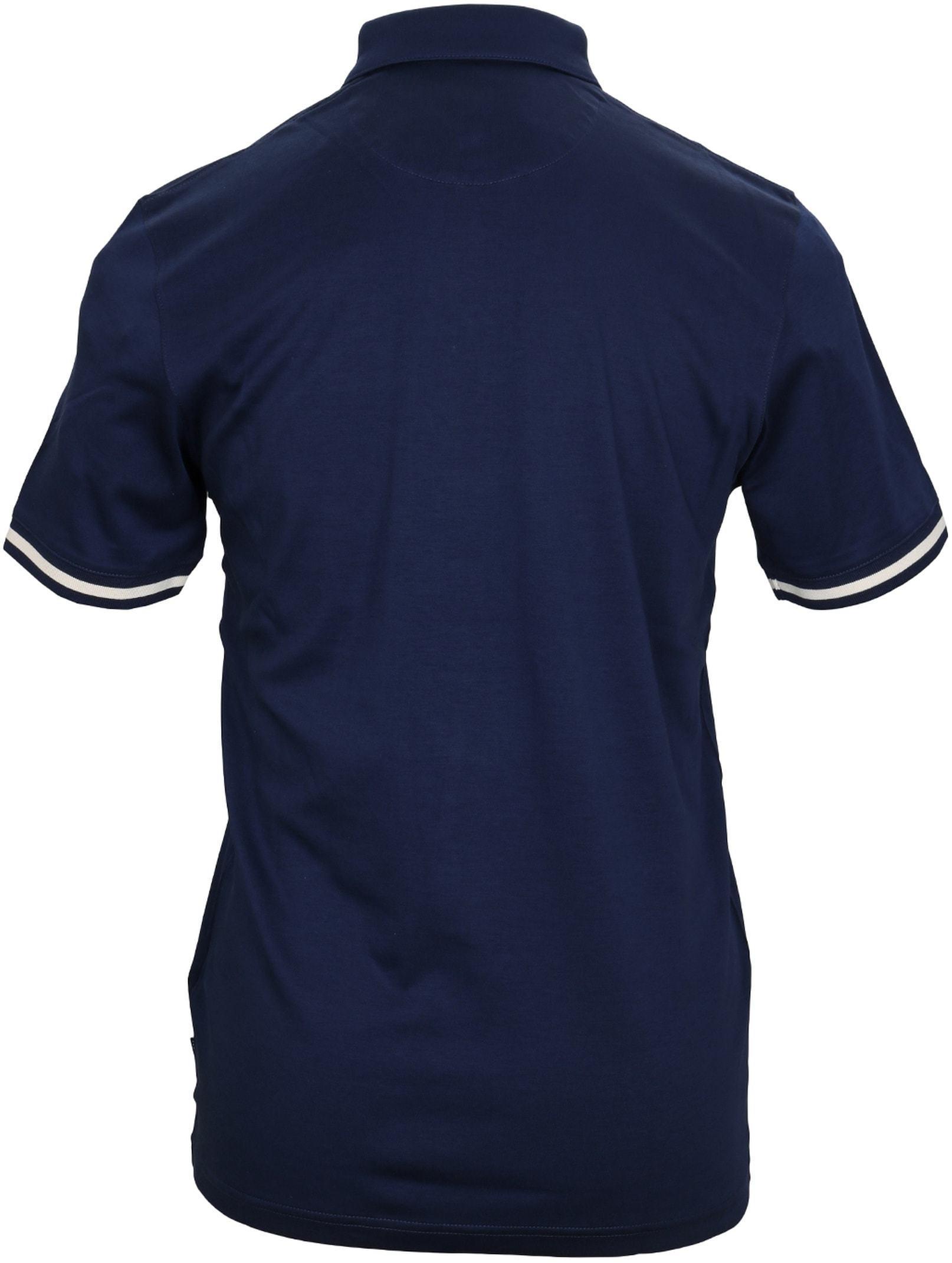 Ted Baker Poloshirt Katoen Navy foto 3