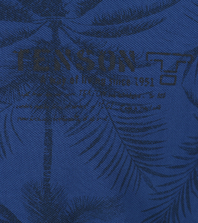 Tenson Polo Palmboom Blauw foto 1
